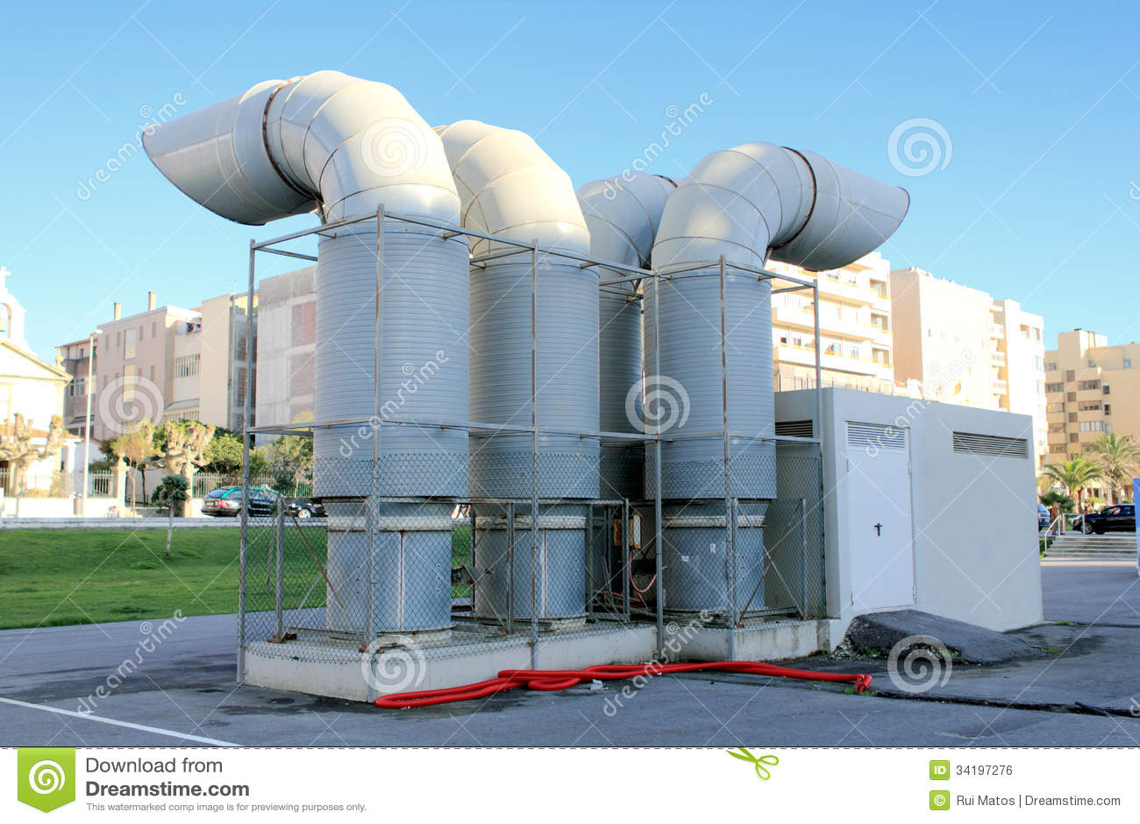Ventilação Industrial Imagem de Stock Royalty Free Imagem  #2573A6 1300 957