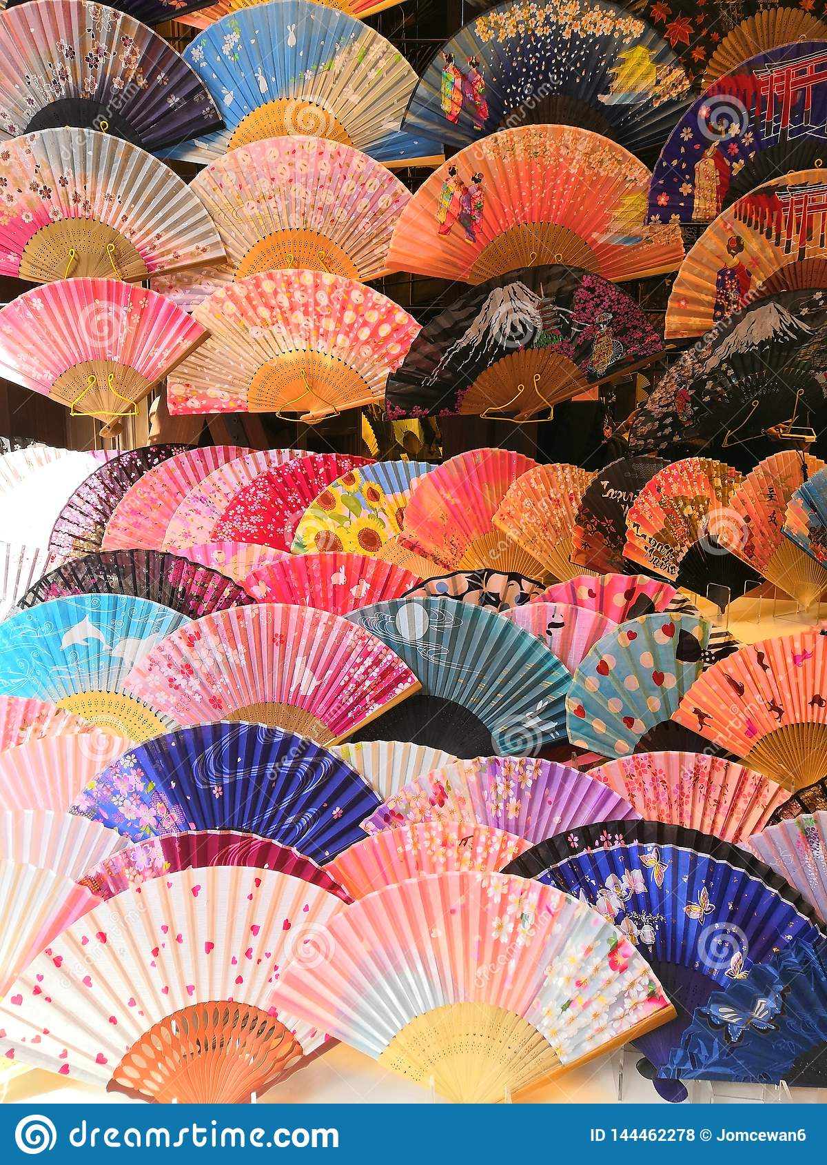 Ventila a arte japonesa da cultura de japão colorida