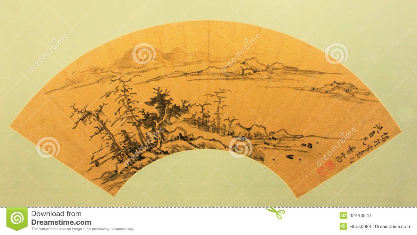 Ventilador plegable tradicional chino