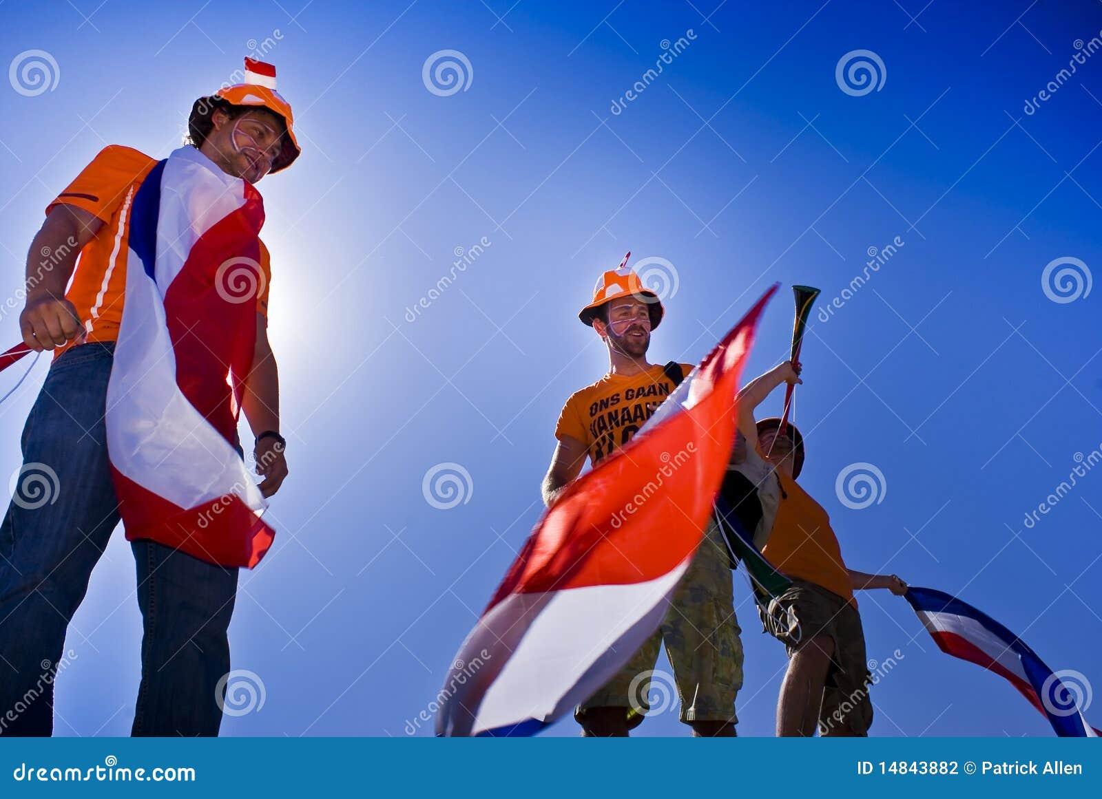 Ventilateurs de football hollandais - carte de travail 2010 de la FIFA