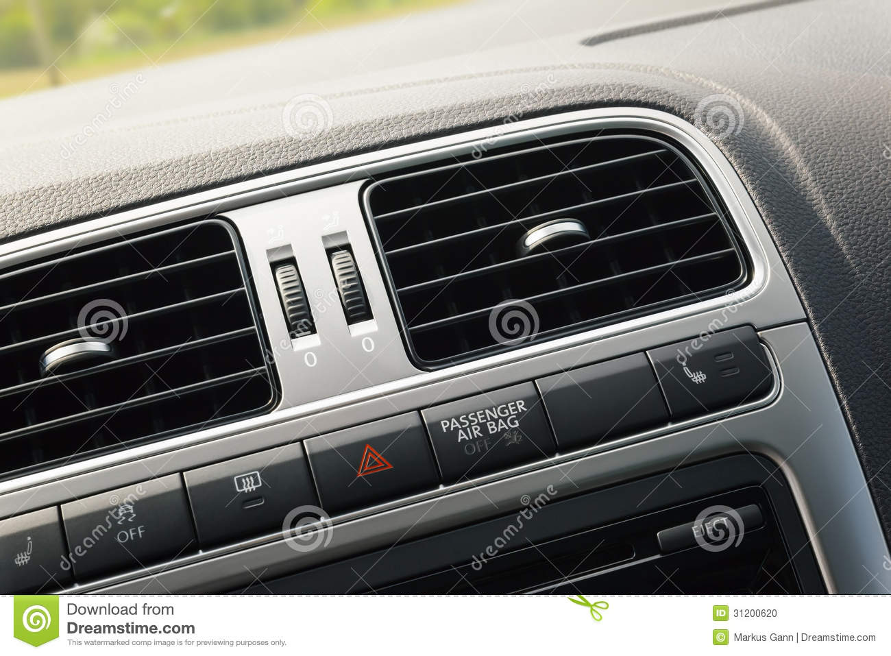 Ventilation d 39 int rieur de voiture photo stock image for Interieur de voiture