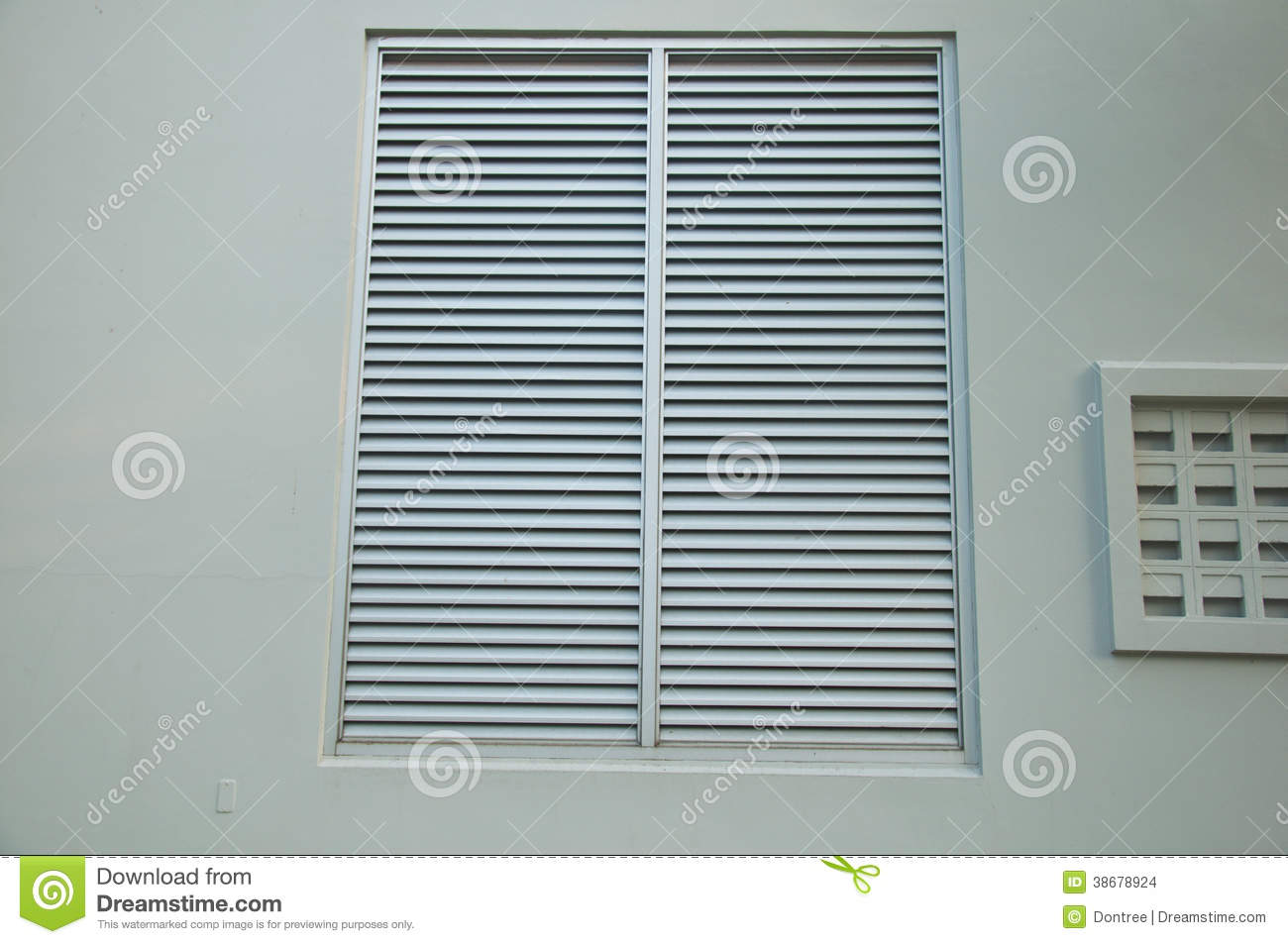 Ventilation door on a wall stock photo image of design for Door ventilation design