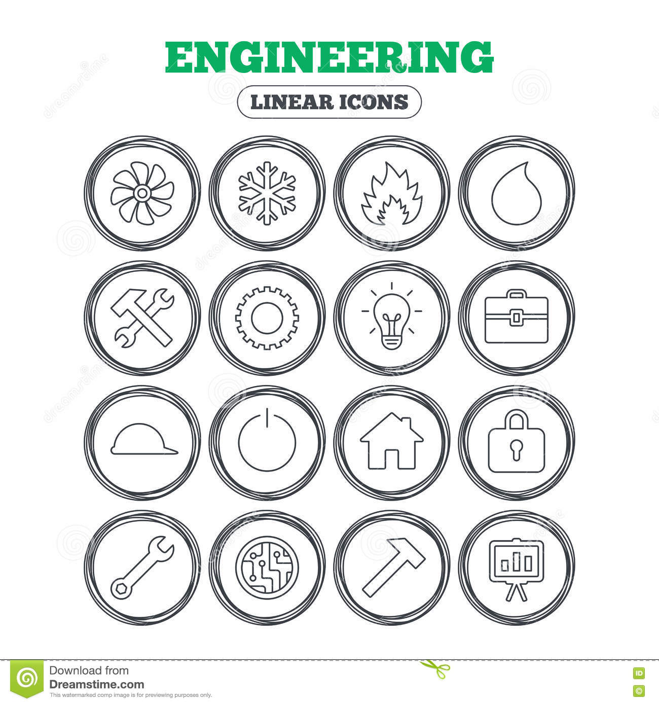 ventilation  heat and air conditioning icons  vector illustration