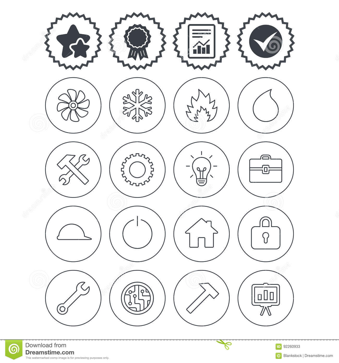 ventilation  heat and air conditioning icons  vector