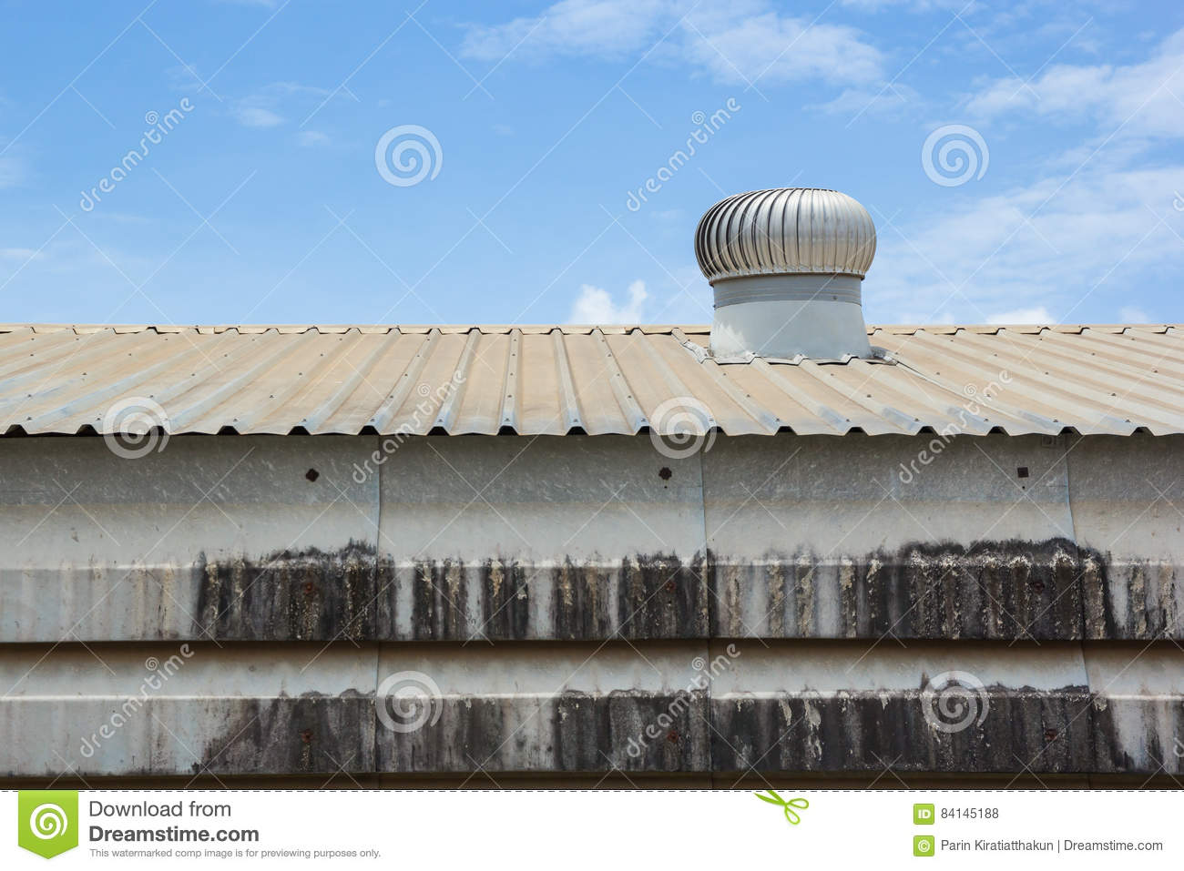 ventilation system for heat control of factory stock photo image