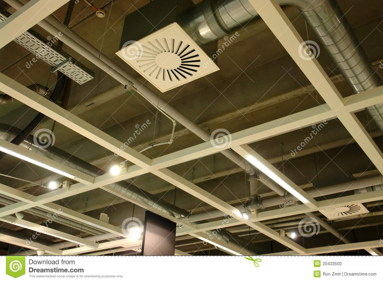 Ventilation System In A Modern Factory Stock Photo Image