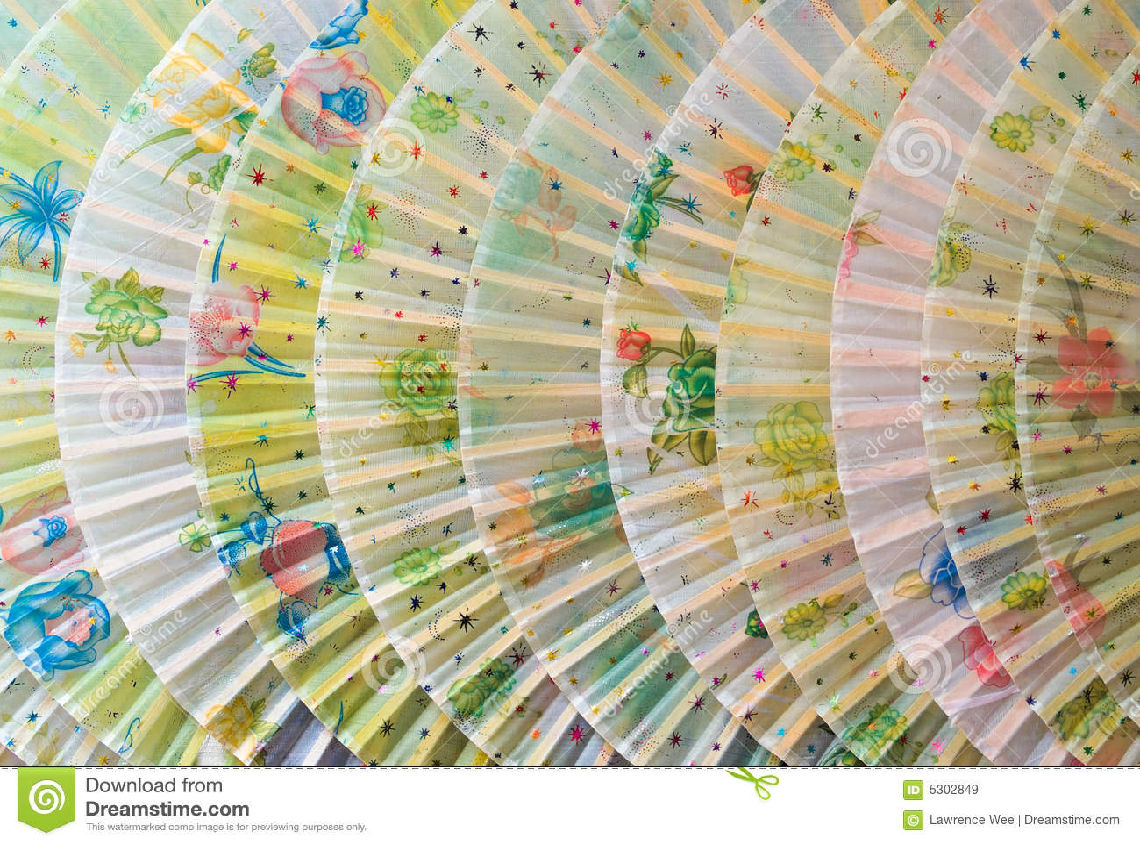 Download Ventilatori cinesi immagine stock. Immagine di simmetria - 5302849