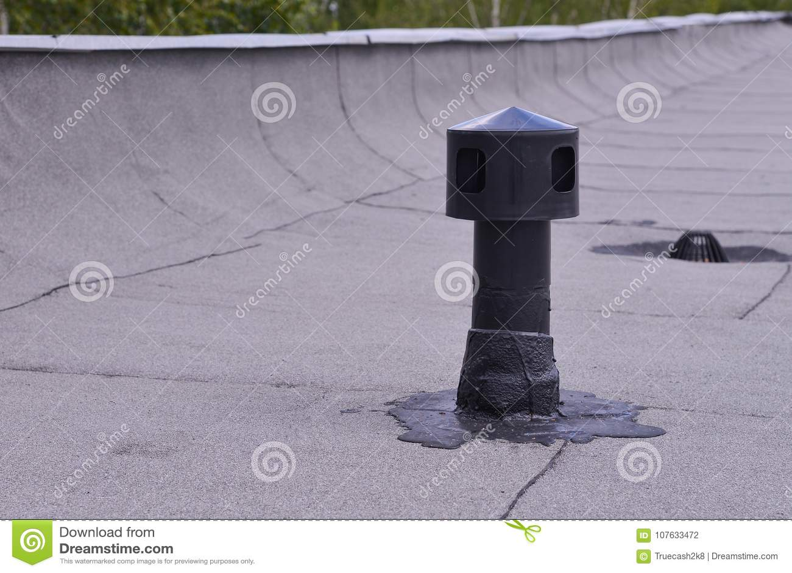 Ventilazione Del Tetto Piano Protezione D Impermeabilizzazione