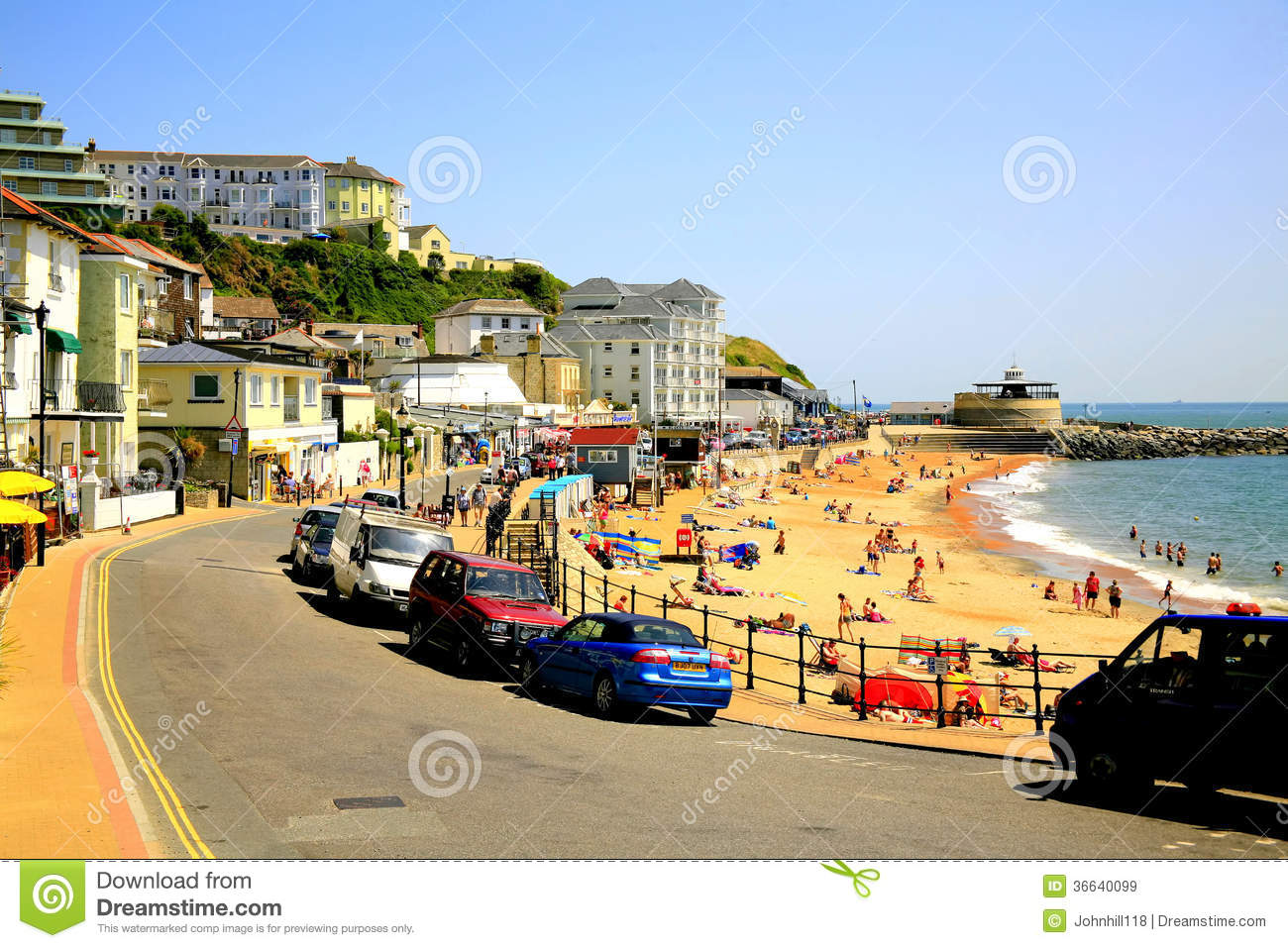 Ventnor Seafront, Isle Of Wight. Editorial Stock Image - Image: 36640099