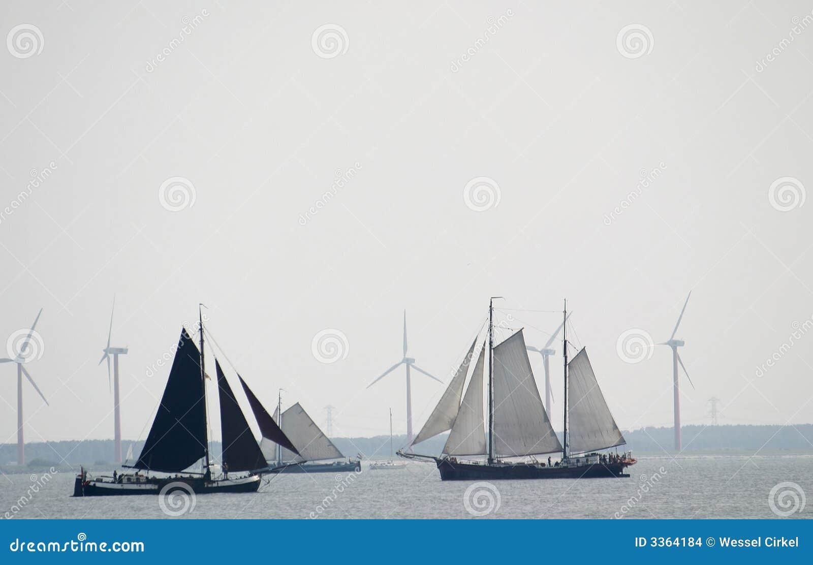 Vento per la navigazione ed i mulini a vento
