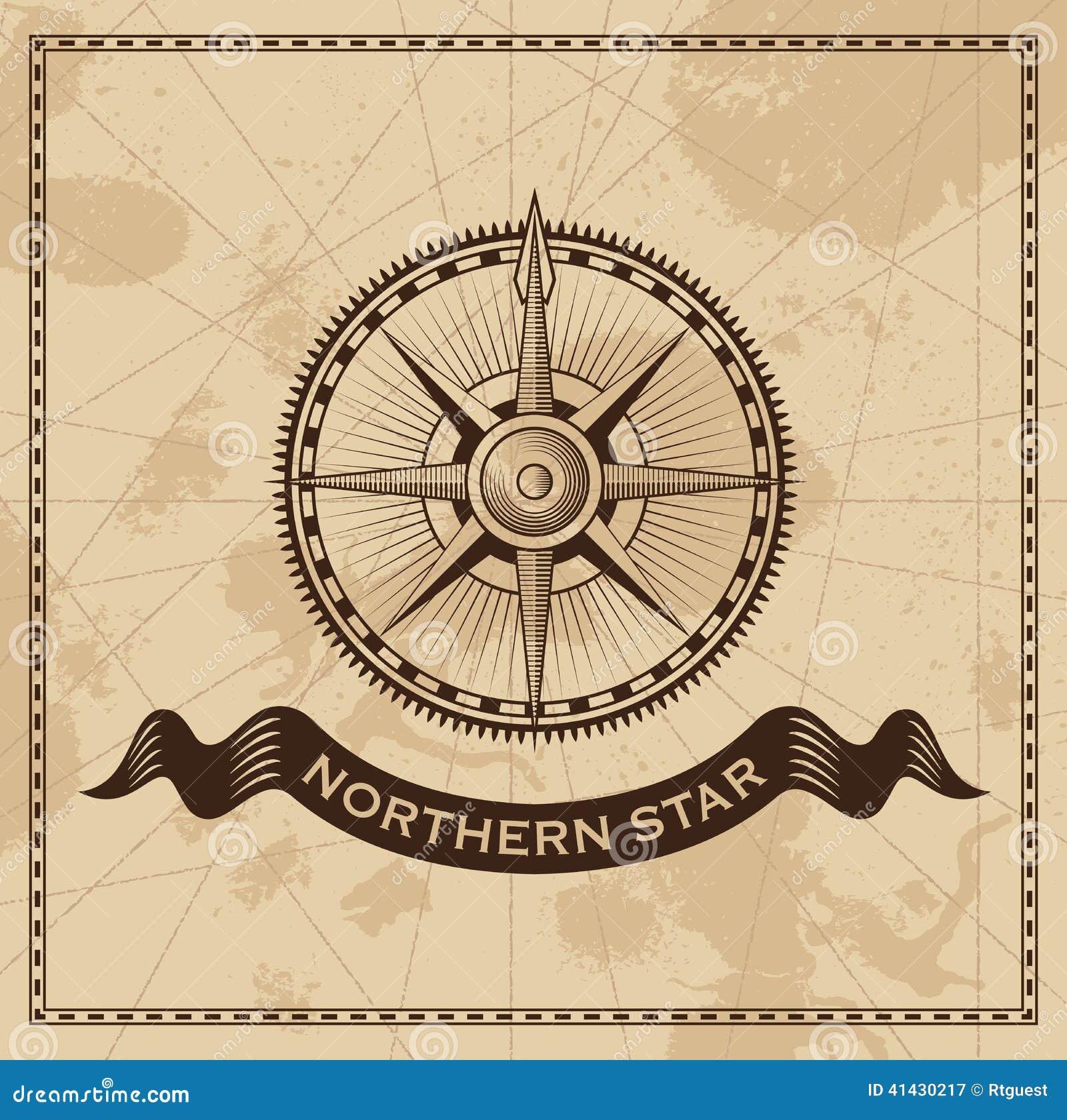 Vento Rose Nautical Compass do vintage