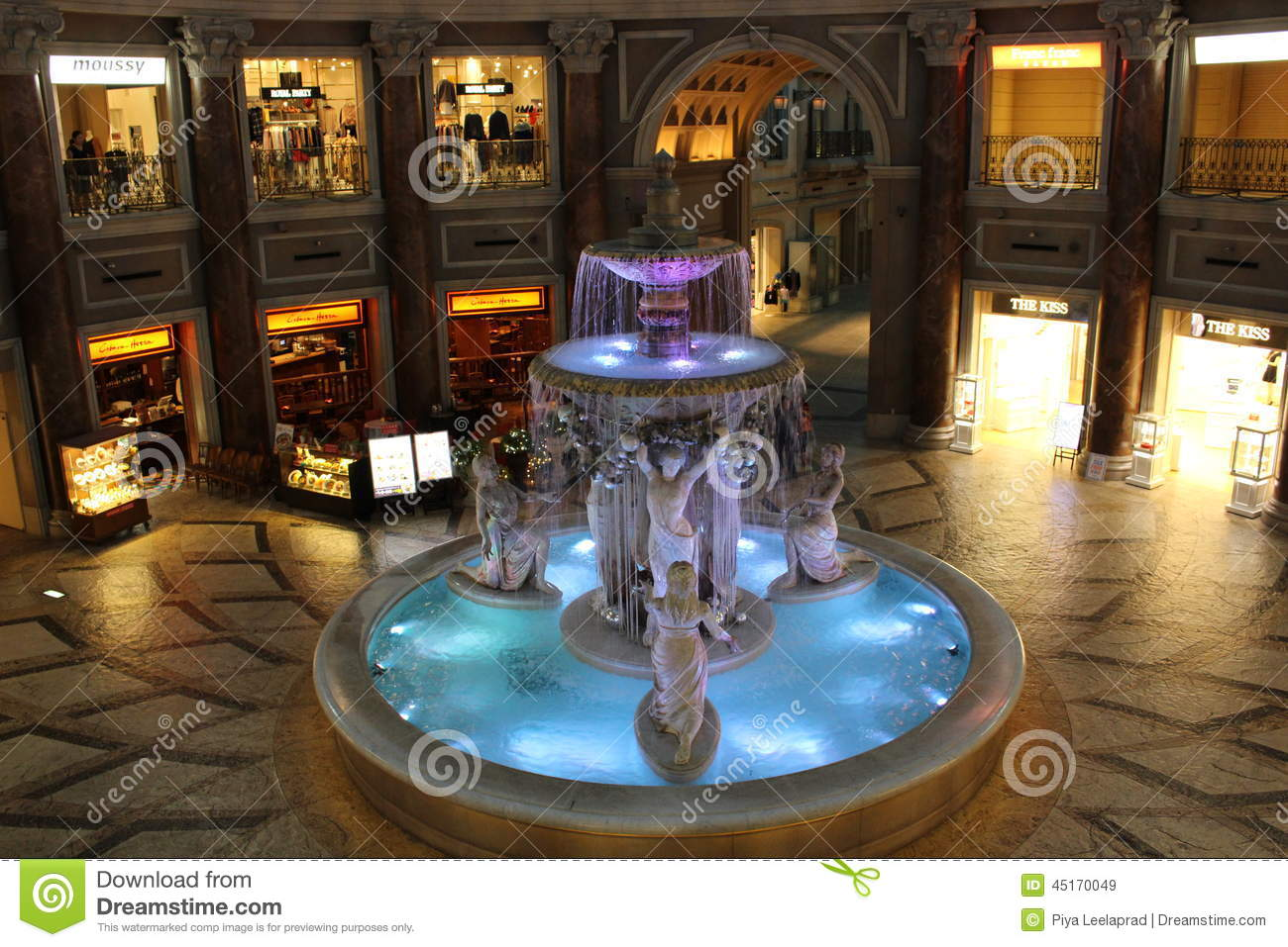 very beautiful water fountain inside Venus Fort, a famous local ...