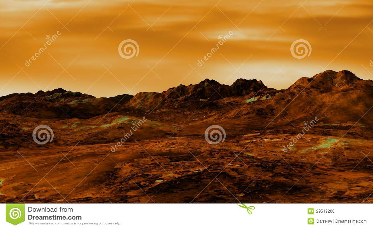 Venus Landscape Stock Photo - Image: 29519200
