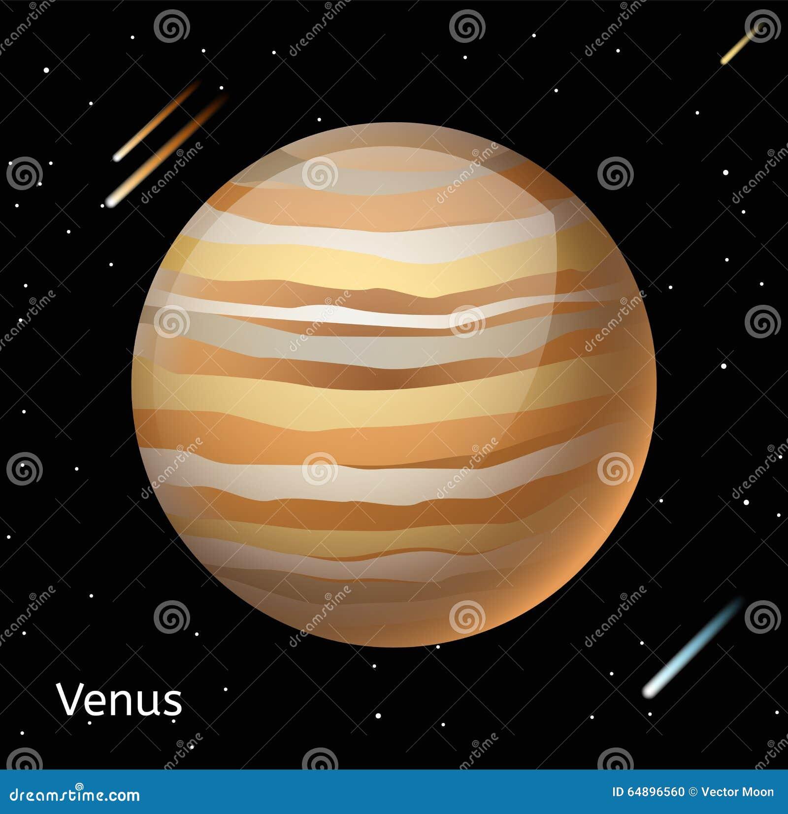 Venus Planet 3d Vector Illustration Stock Vector - Illustration of