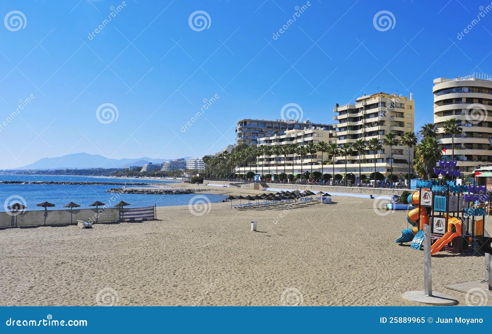 Venus strand i Marbella, Spanien