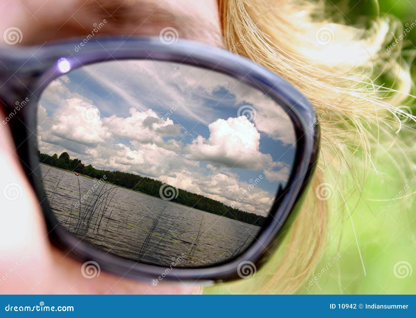 Verão em óculos de sol