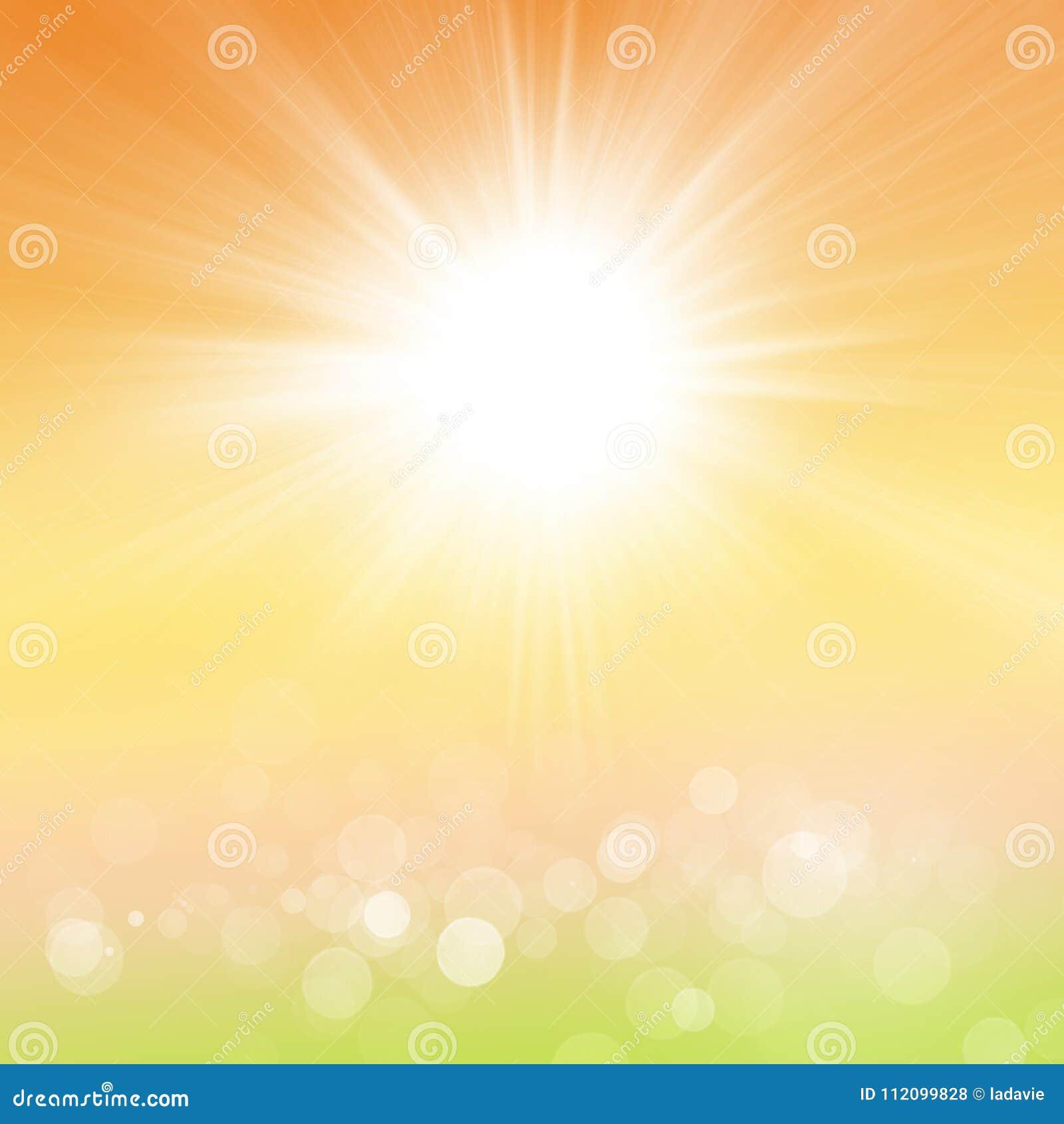 Verão ou Autumn Background da mola da natureza de Sun
