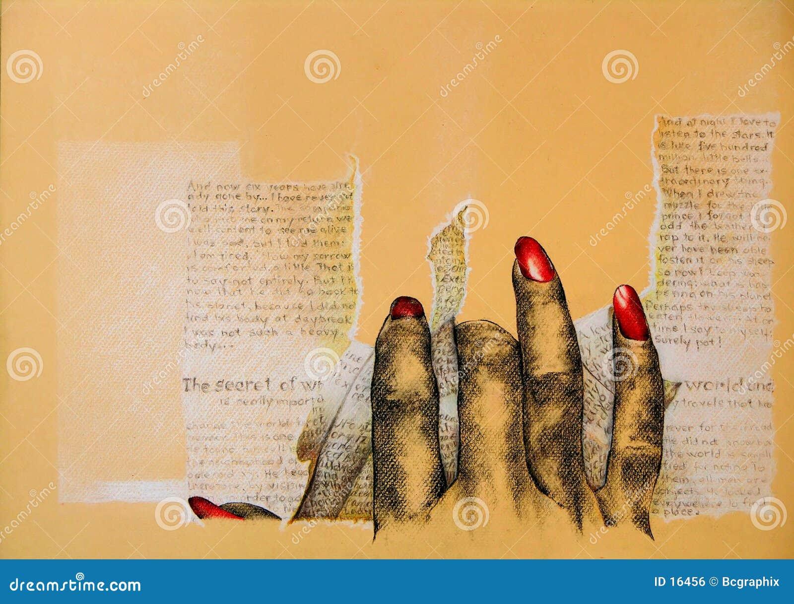 Verärgerte Hand