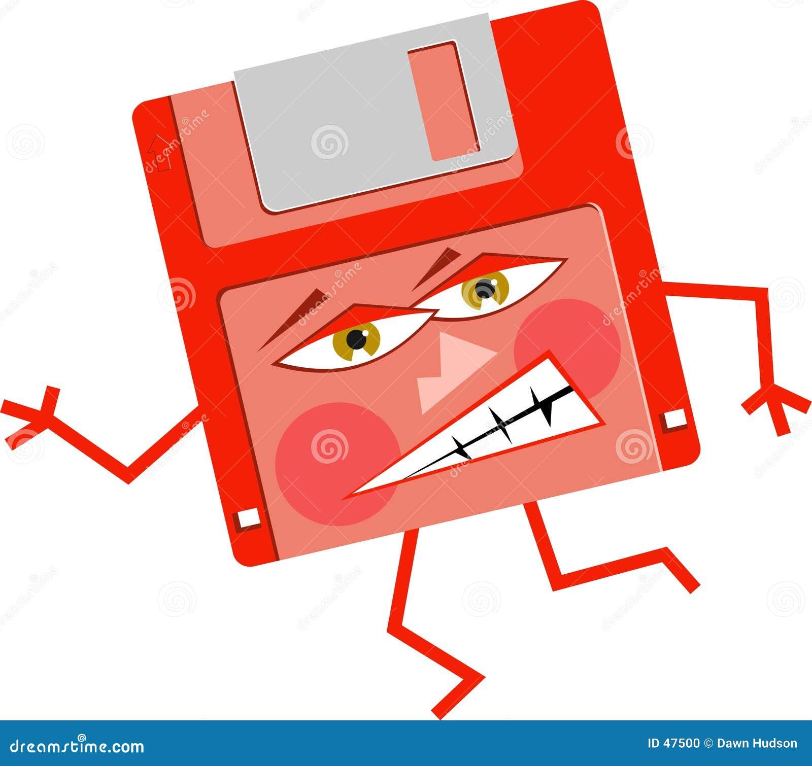 Verärgerter Floppy-Disc