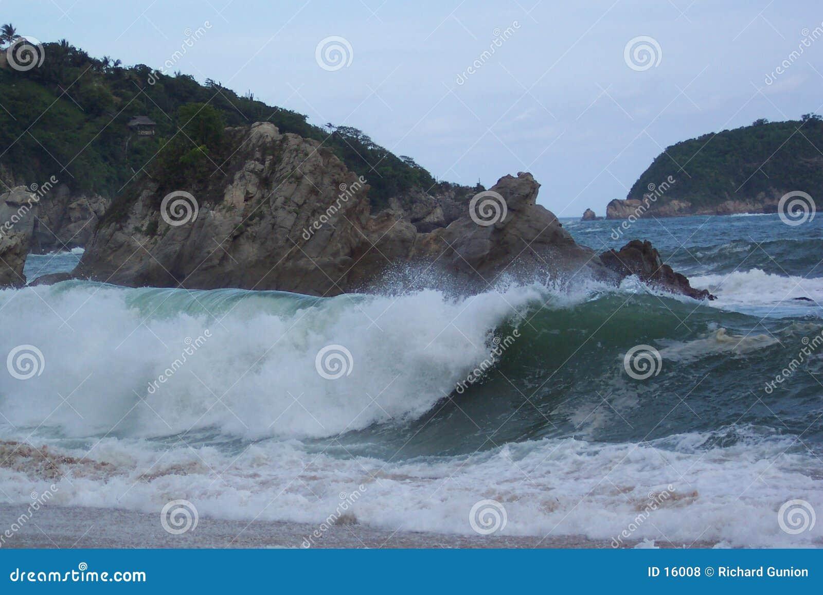 Verärgerter Ozean