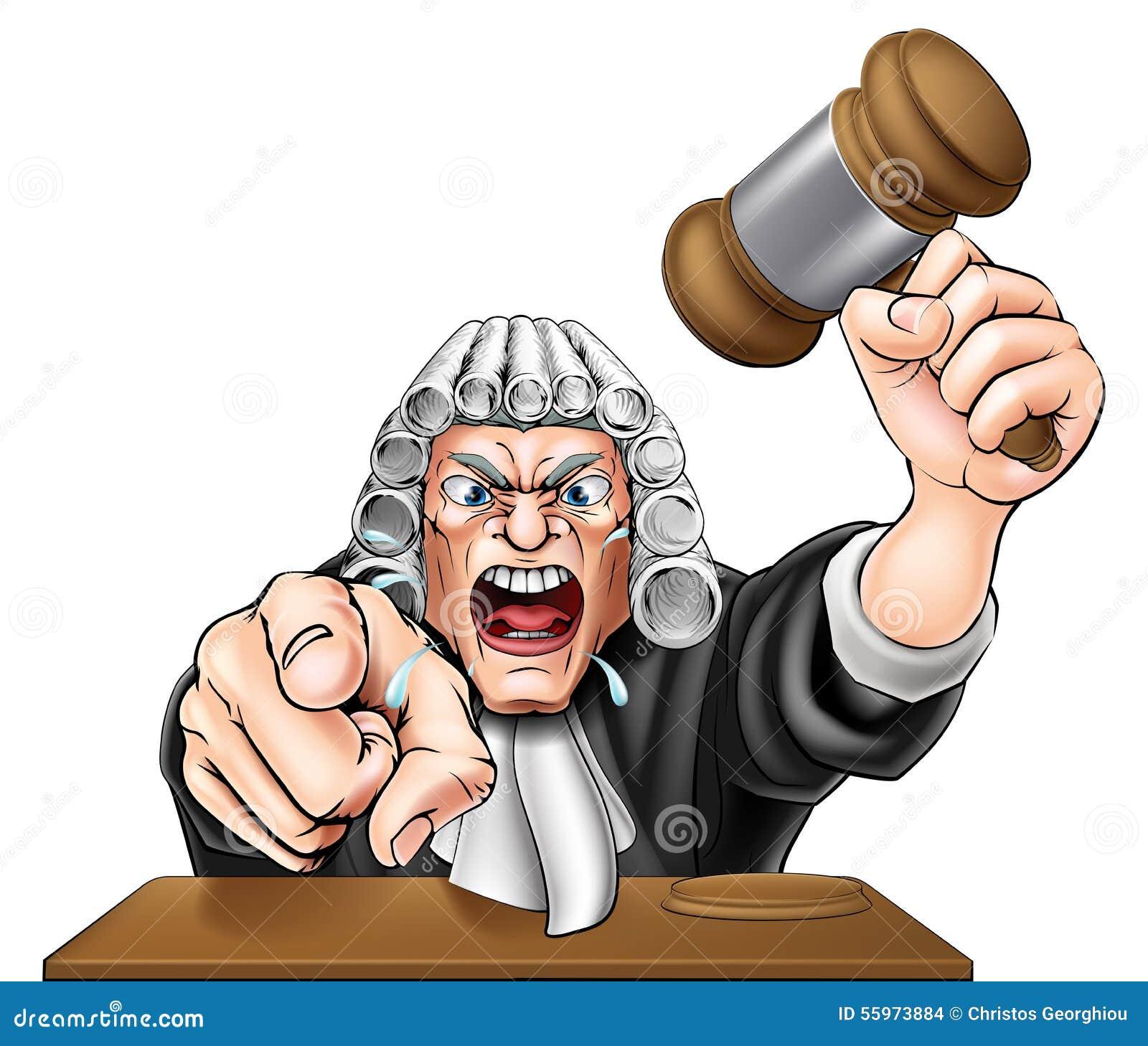 Verärgerter Richter