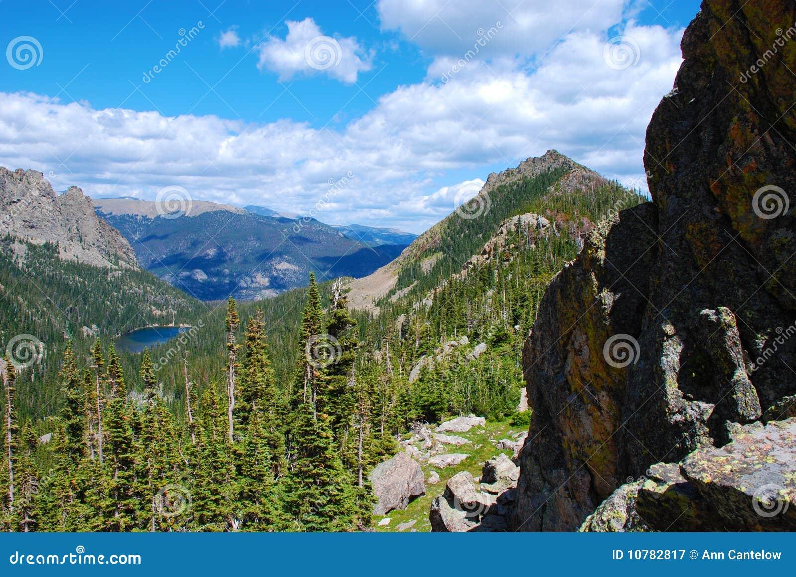 Ver Alpien Meer hierboven wordt gezien dat van