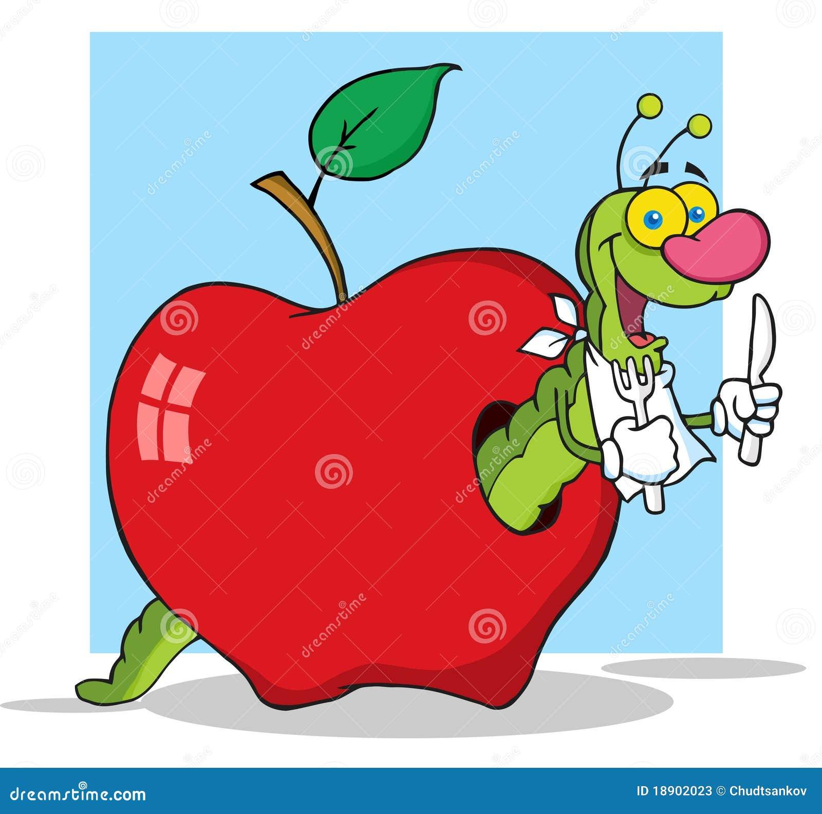 Ver de terre heureux de dessin anim illustration de vecteur illustration du vert pomme 18902023 - Dessin de ver de terre ...
