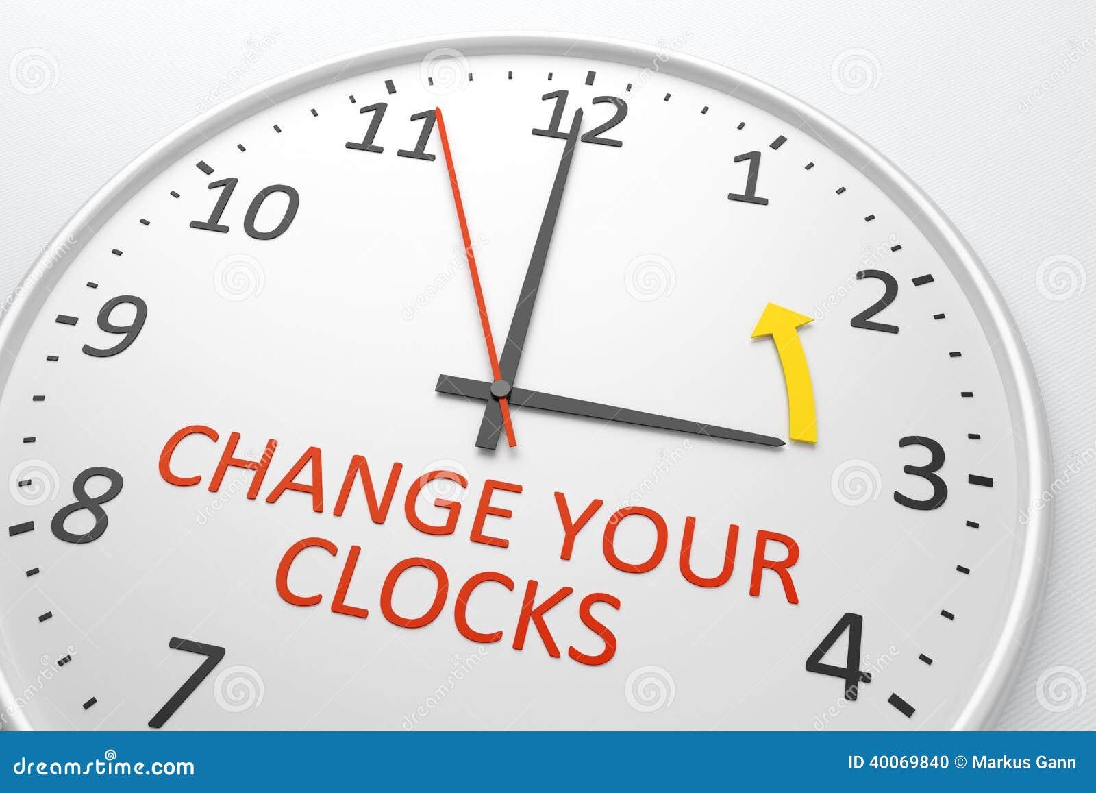 Verander uw klokken
