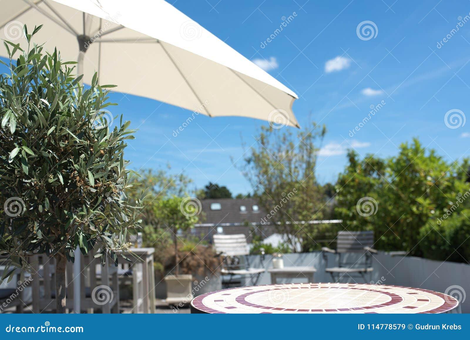 Verano En Una Terraza Del Sol Imagen De Archivo Imagen De