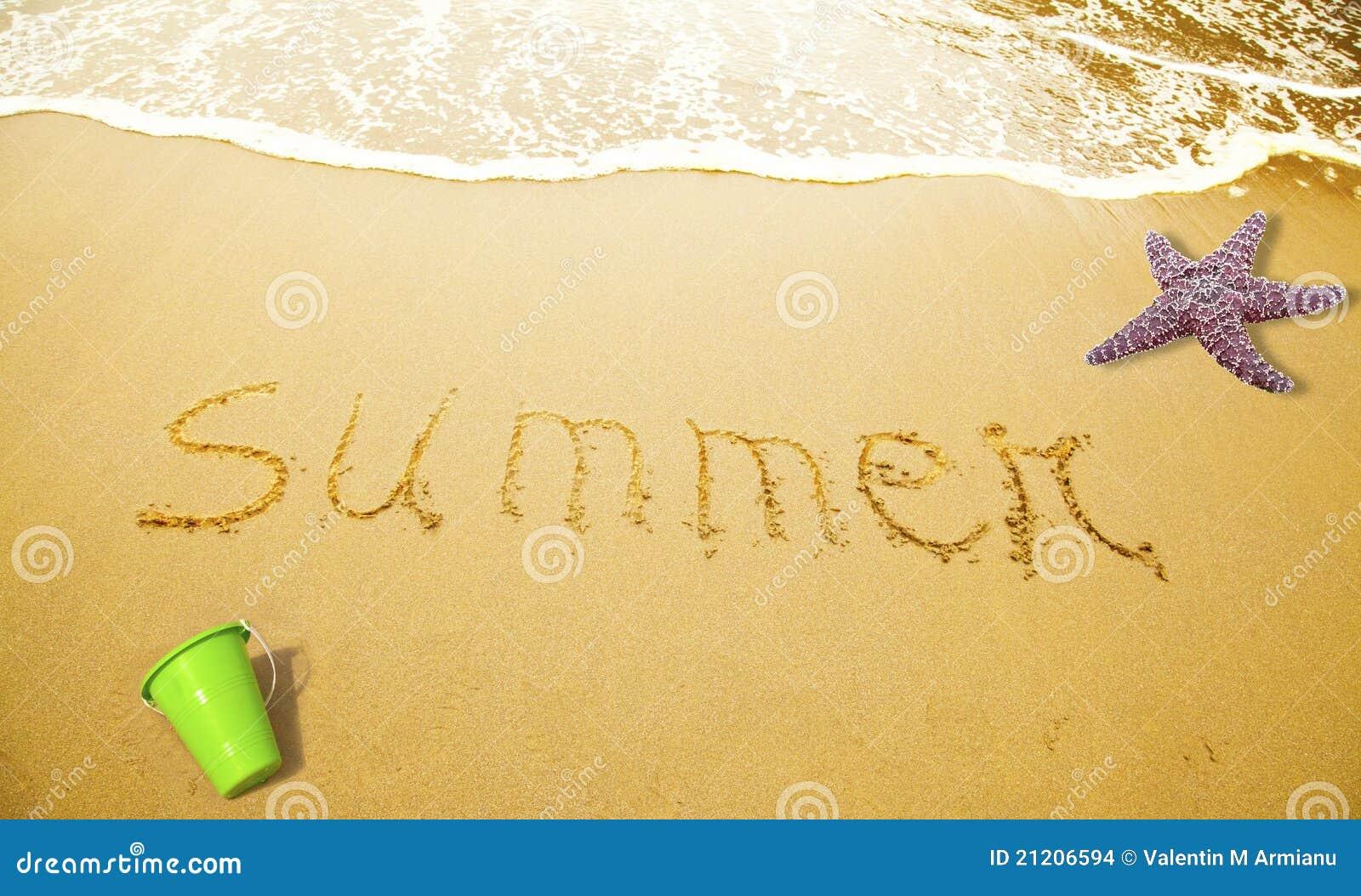 Verano escrito en arena
