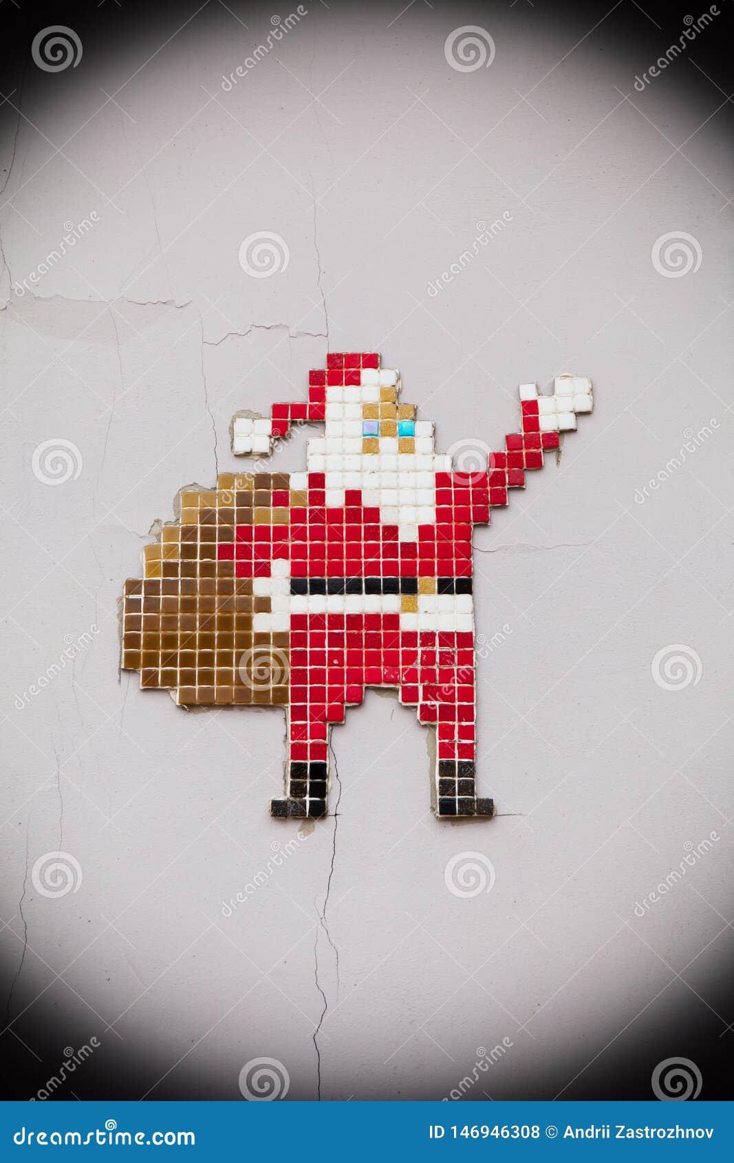 Verano Papá Noel, concepto, casa vieja