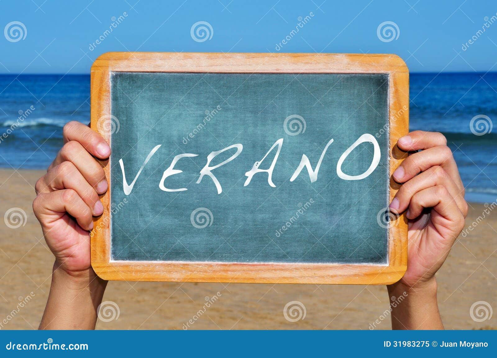 Verano, Sommer auf spanisch