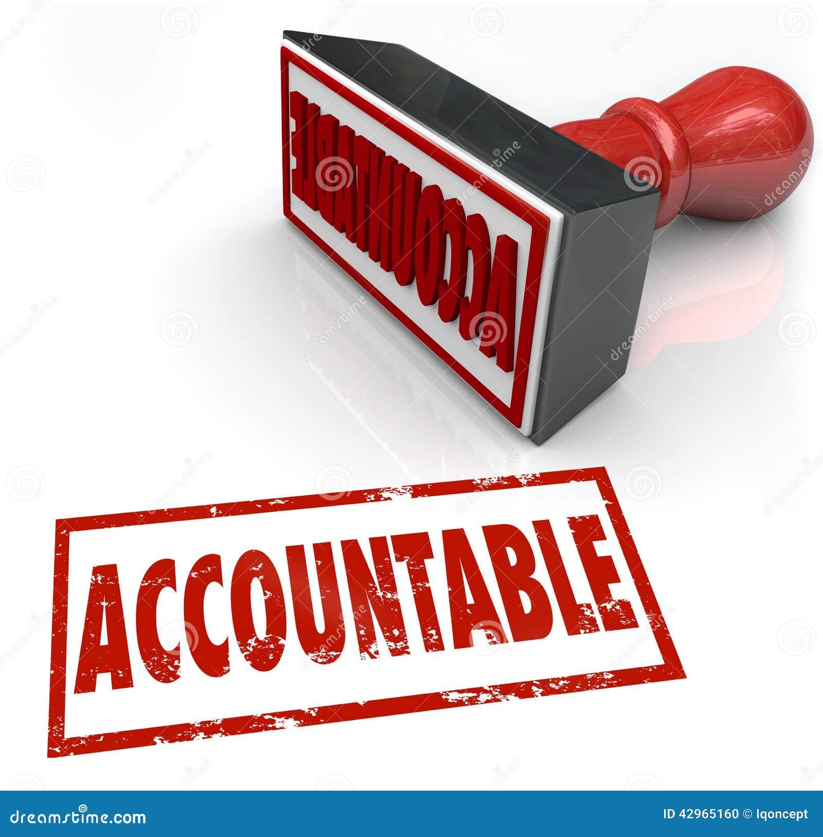 Verantwoordelijke Zegel die de Schuld van het Verantwoordelijkheidskrediet toewijzen