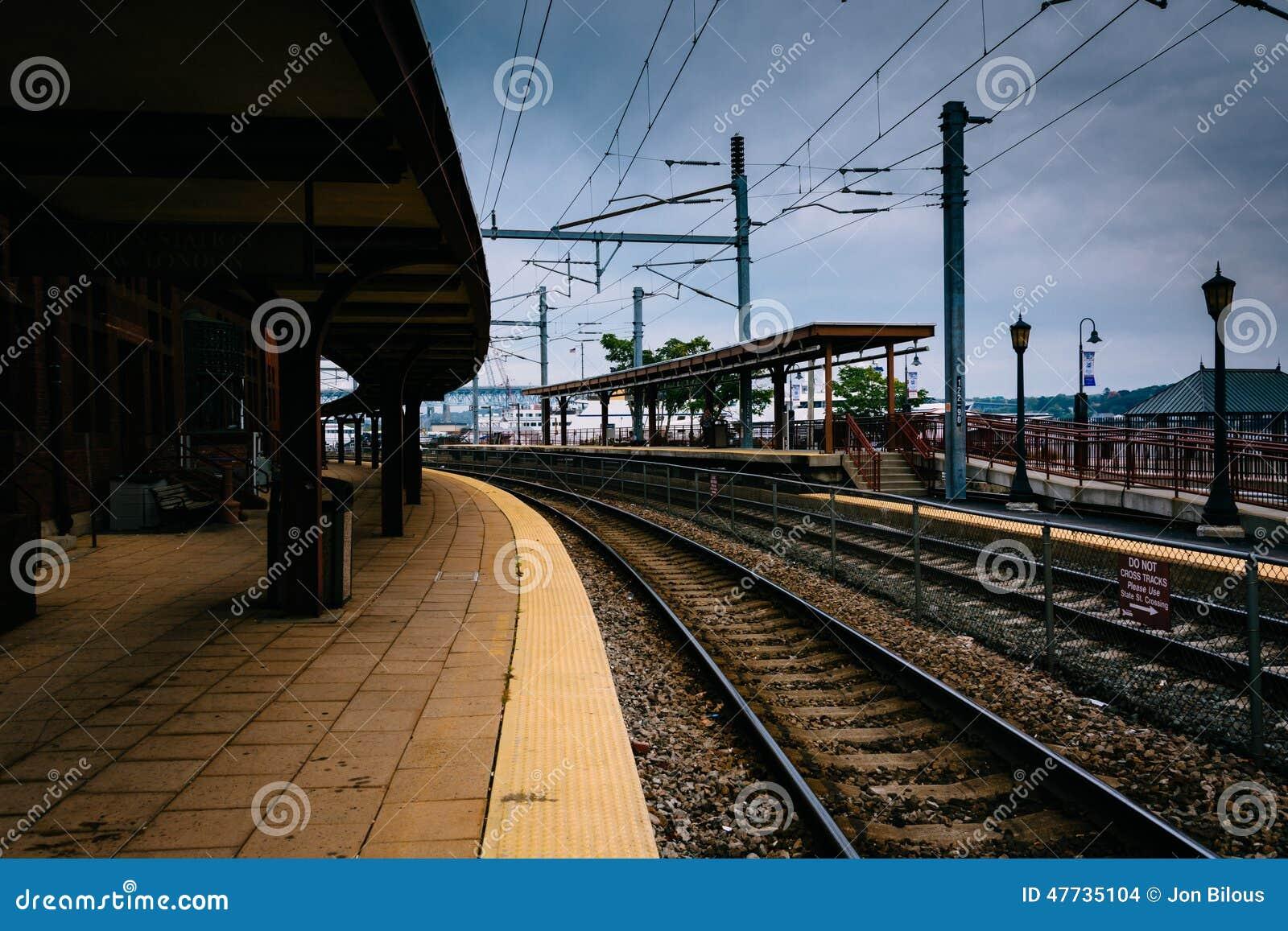 Verbandsstation und -Bahnstrecken in neuem London, Connecticut