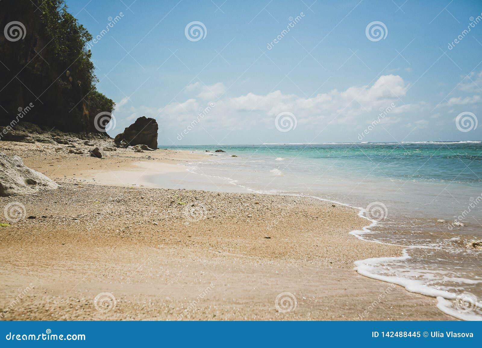 Verbazend gouden strand in Bali