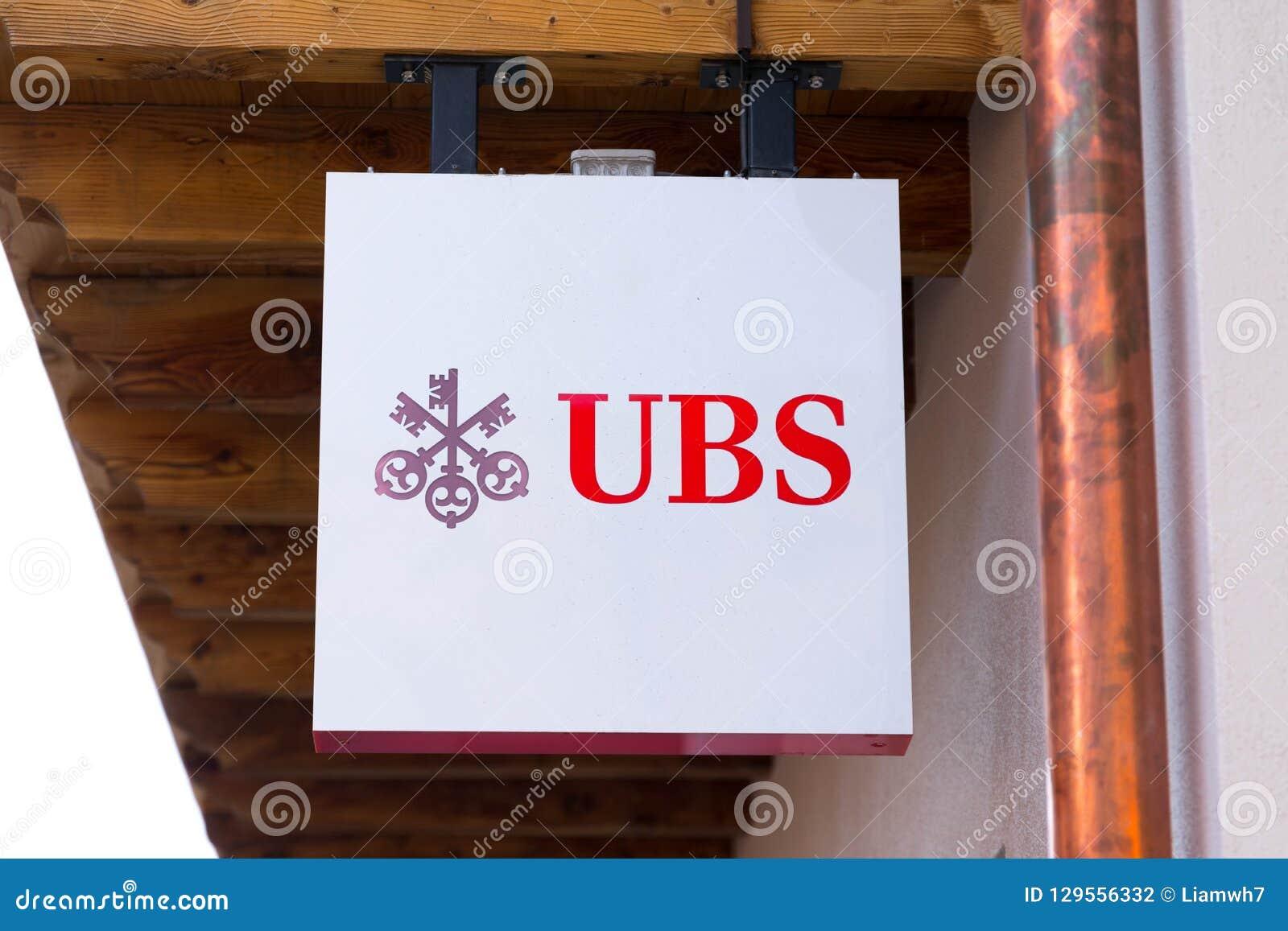 Verbier/Switzerland-10 10 29 : UBS Swiss Money Bank Logo