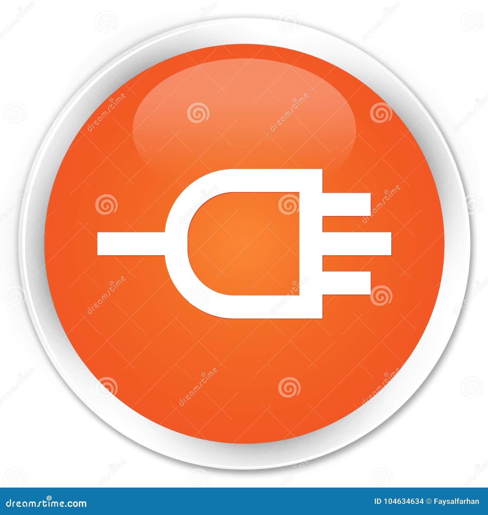 Download Verbind De Oranje Ronde Knoop Van De Pictogrampremie Stock Illustratie - Illustratie bestaande uit premie, adapter: 104634634