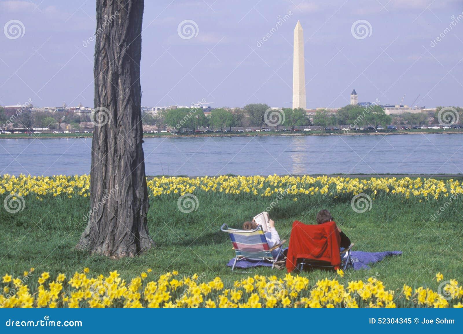 Verbinden Sie Lesung in Dame Bird Park, der Potomac, Washington, D C