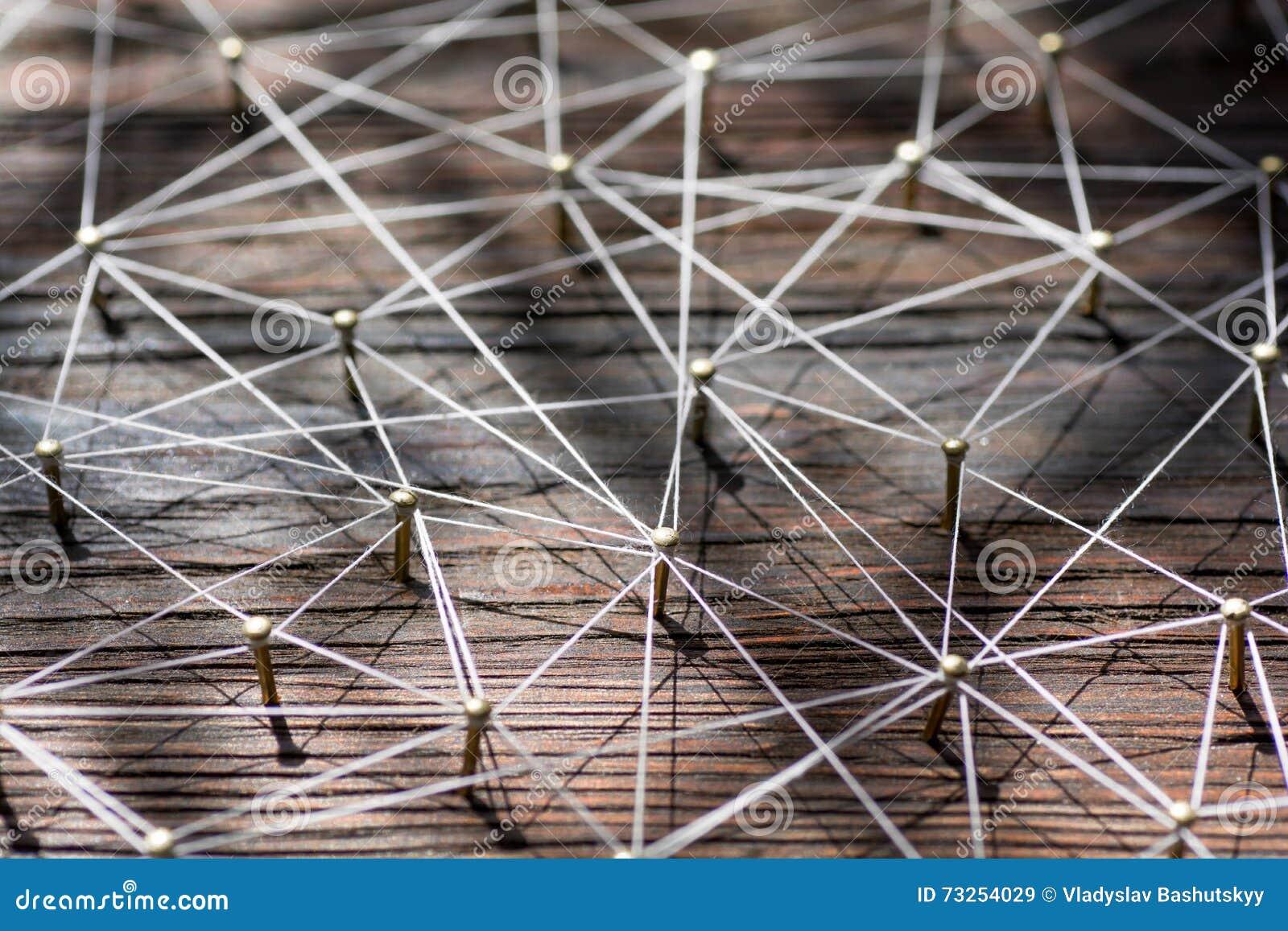 Verbindung von Wesen Netz, Vernetzung, Social Media, Internet-Kommunikationszusammenfassung Ein kleines angeschlossen an größeres