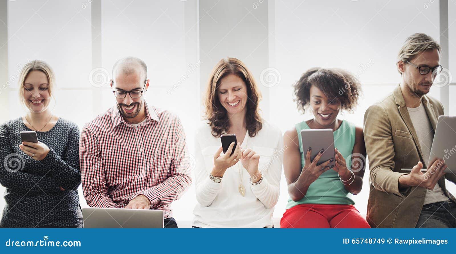 Verbindungs-Digital-Gerät-Vernetzungs-Technologie-Konzept