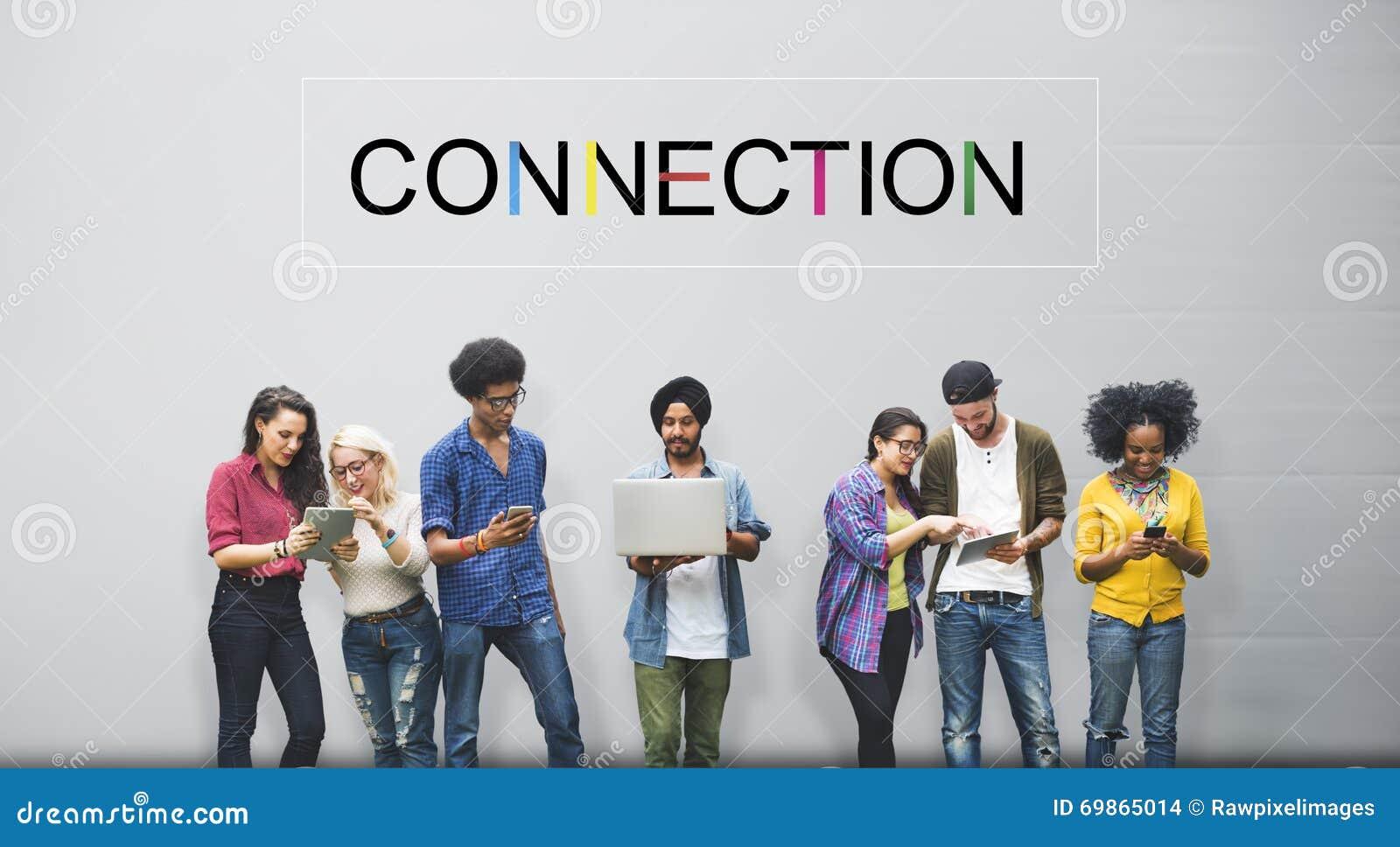 Verbindungs-Social Media-Social Networking-Konzept