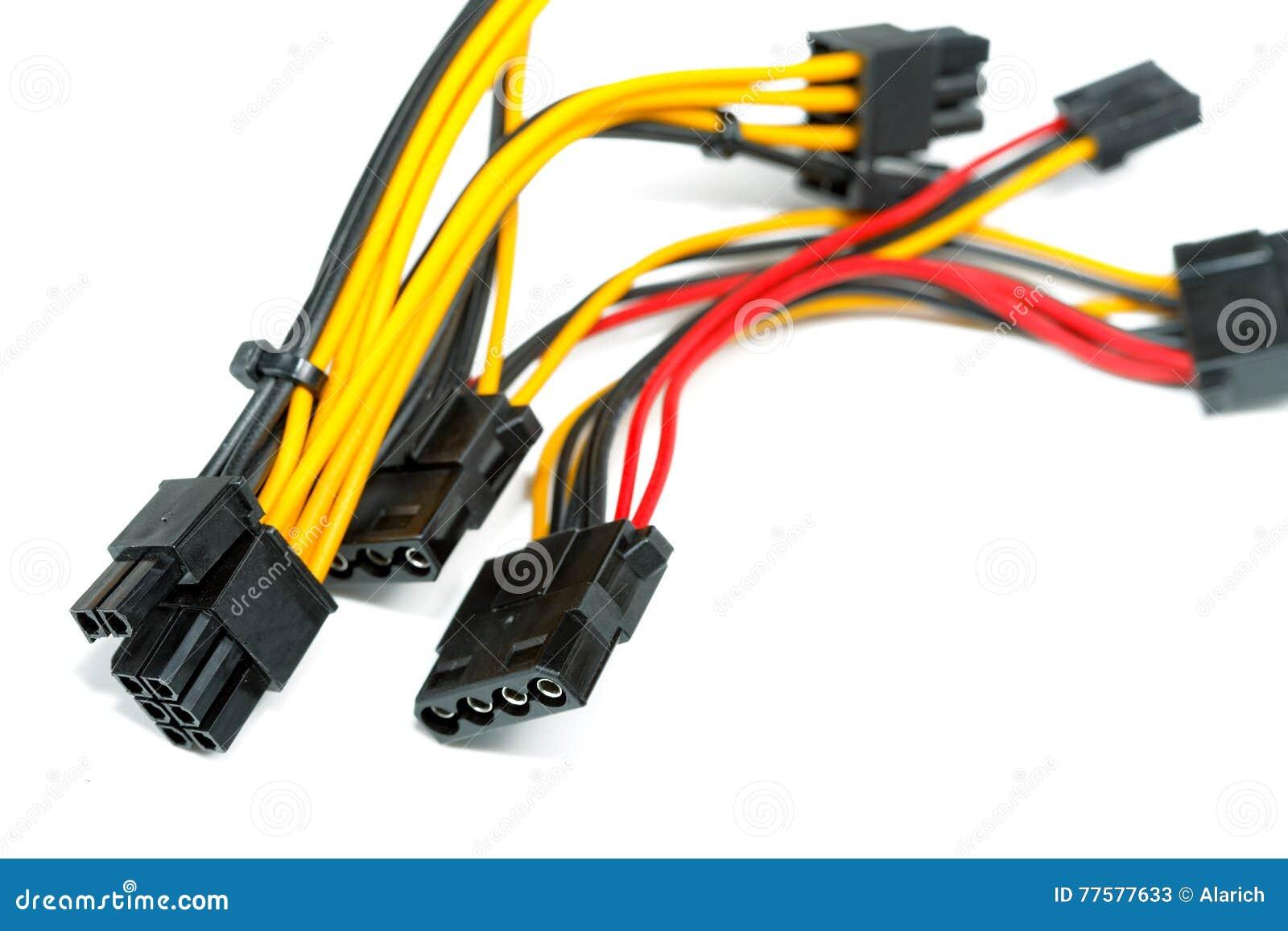Verbindungsdrähte Zu Einem Computer Stockbild - Bild von connect ...