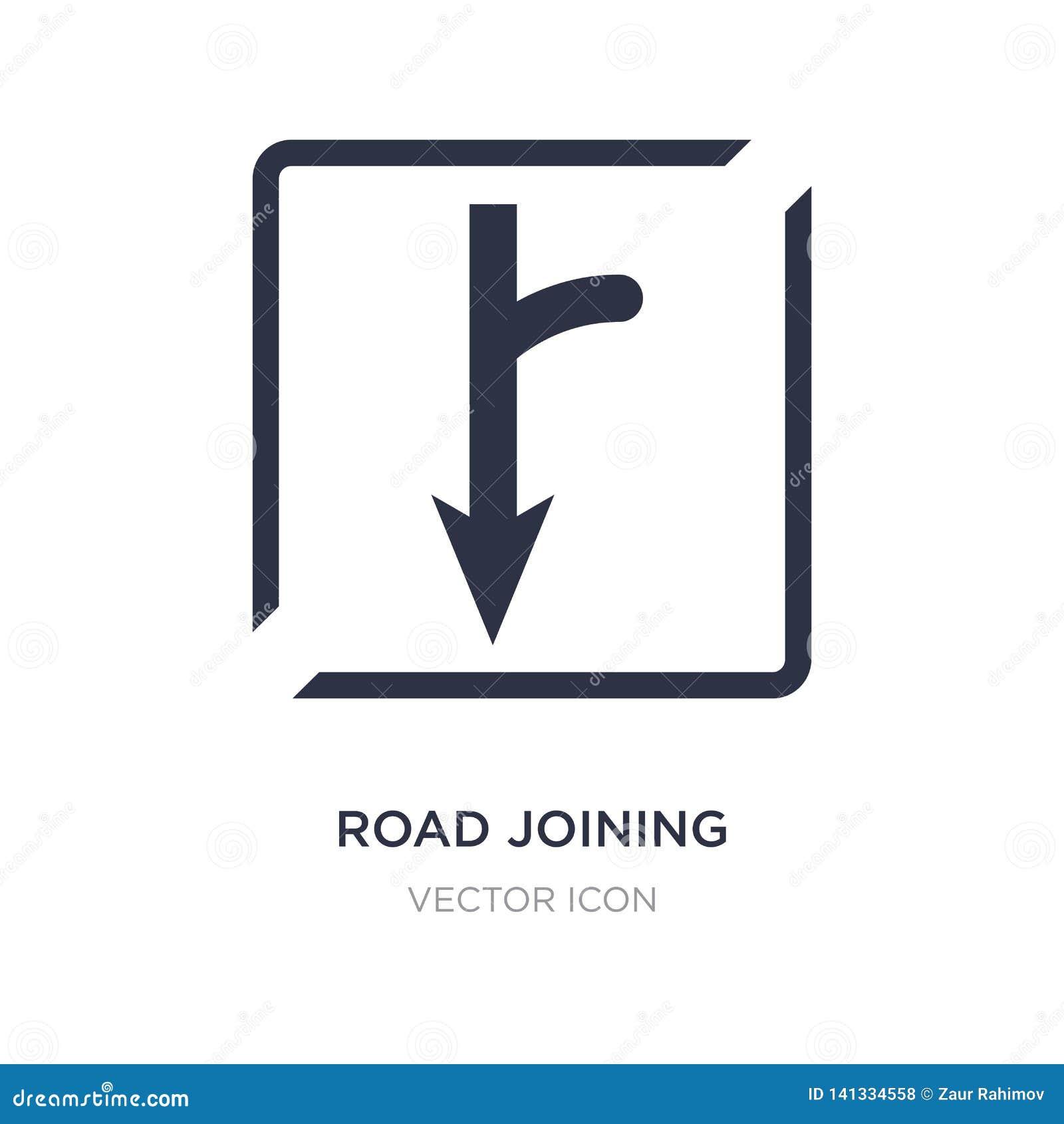 Verbindungsikone der Straße auf weißem Hintergrund Einfache Elementillustration vom Karten- und Flaggenkonzept