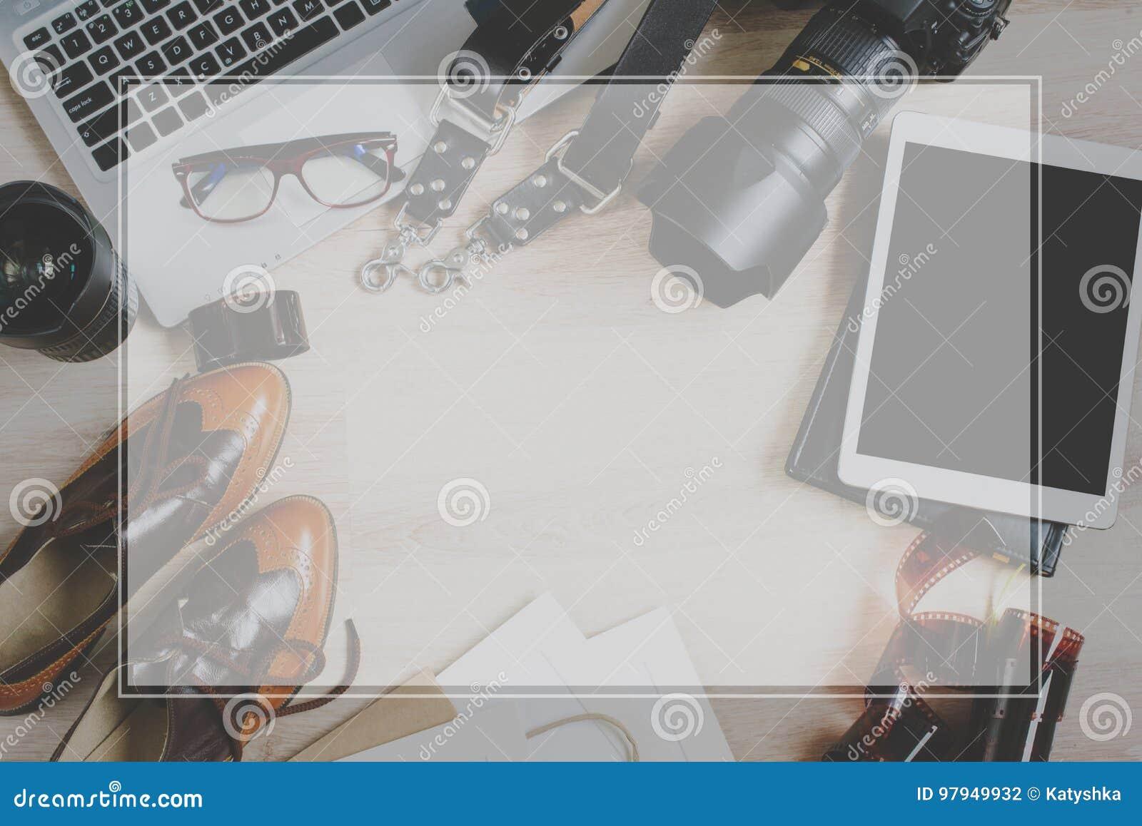 Verblassen Die Rahmen Fotografiehippie-Arbeitstabelle, Die Mit ...