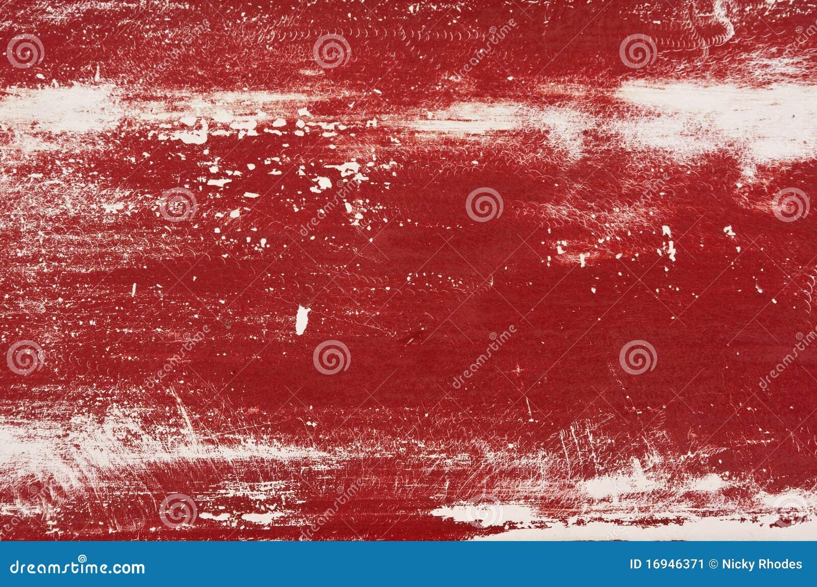 Verblassenes rotes gemaltes Holz