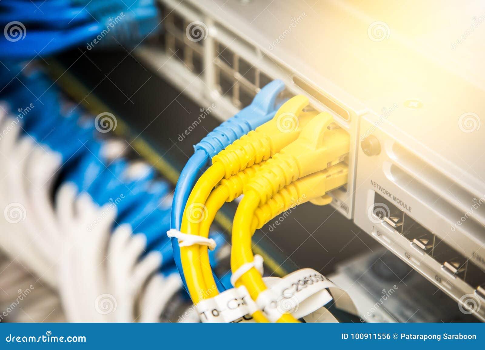 Verbonden de kabels van het netwerk
