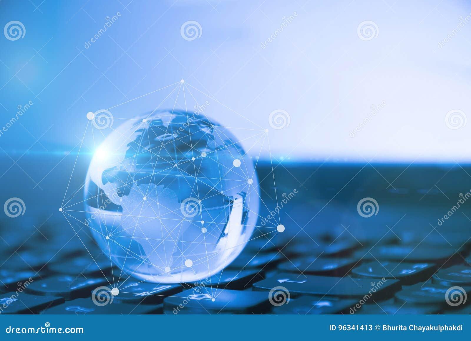 Verbonden wereld Sociaal netwerkconcept