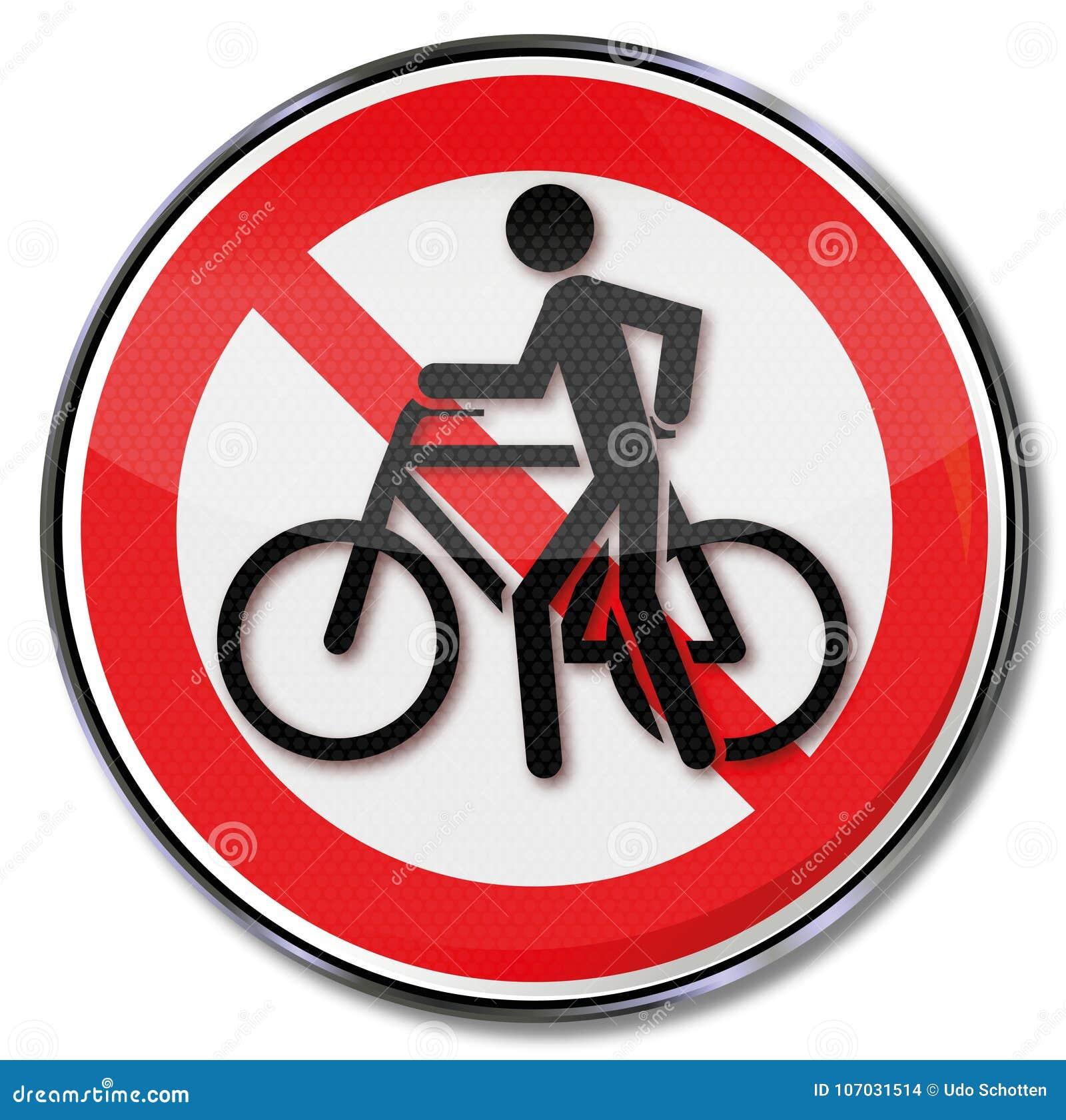 Radfahren verboten Aufkleber