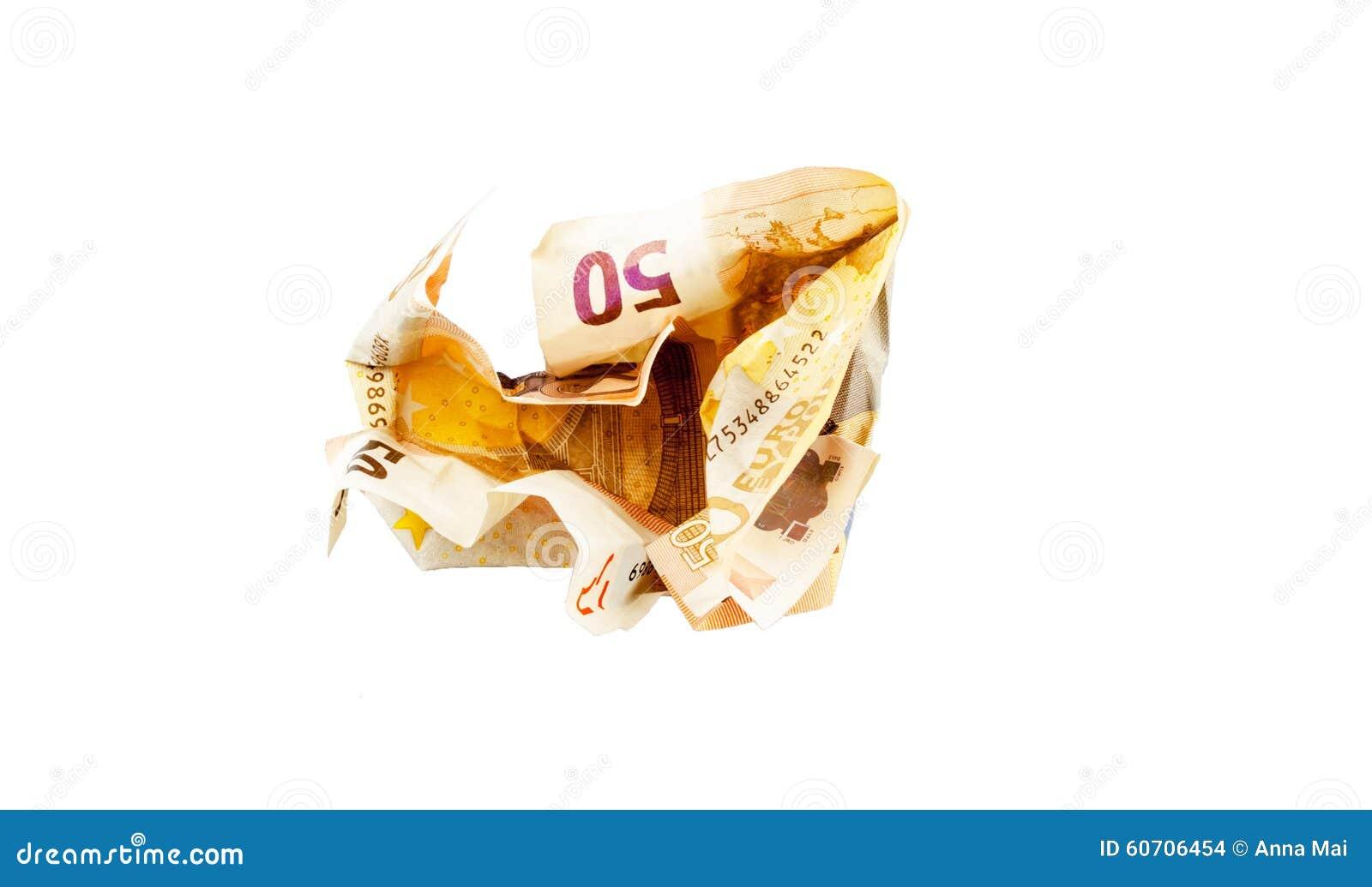 Verbrijzeling 50 Euro rekening