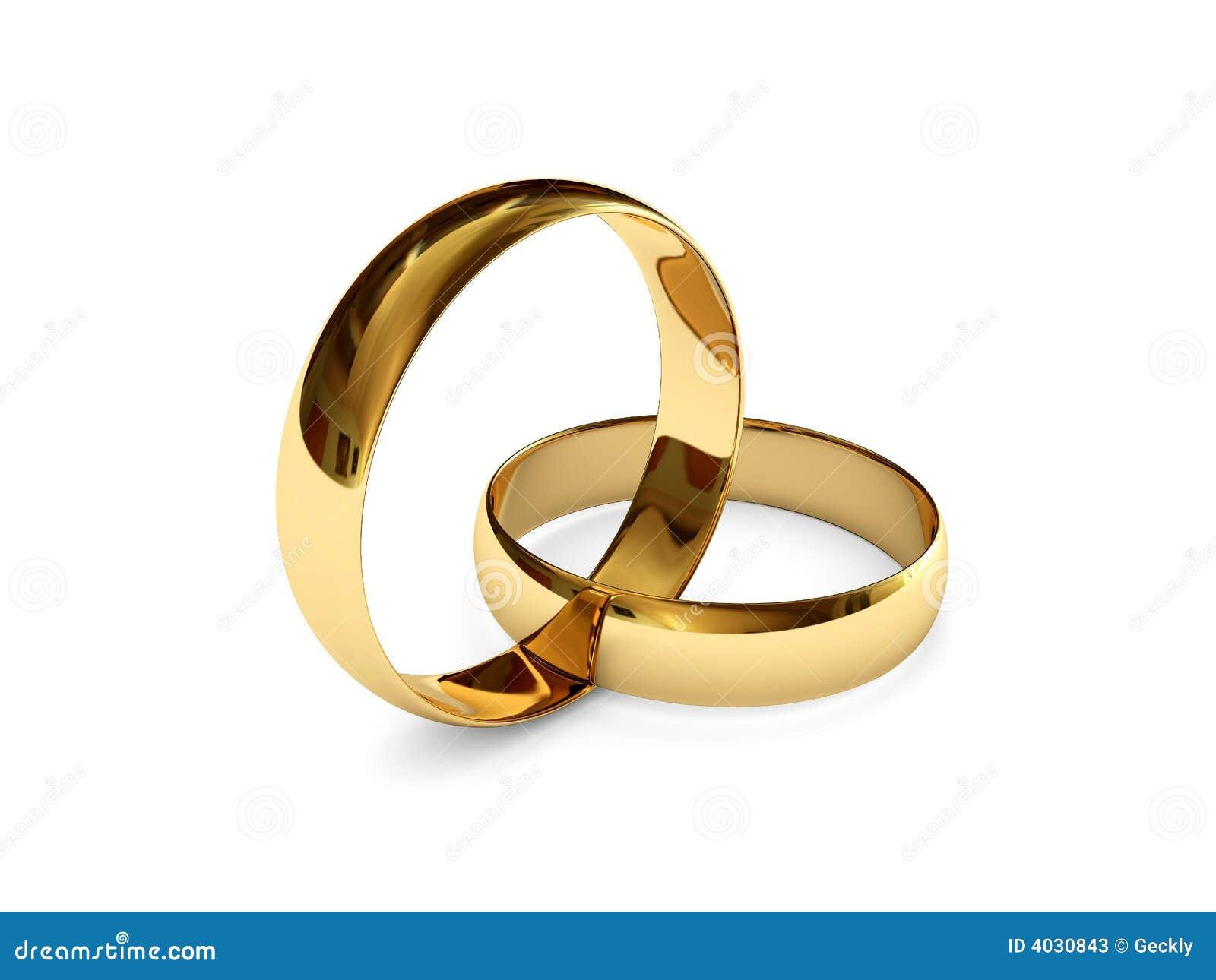 Verbundene Ringe Der Goldenen Hochzeit Stock Abbildung